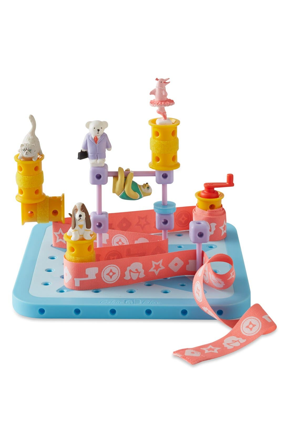 GOLDIEBLOX, 'GoldieBlox & the Spinning Machine' Book & Construction Set, Alternate thumbnail 4, color, 000
