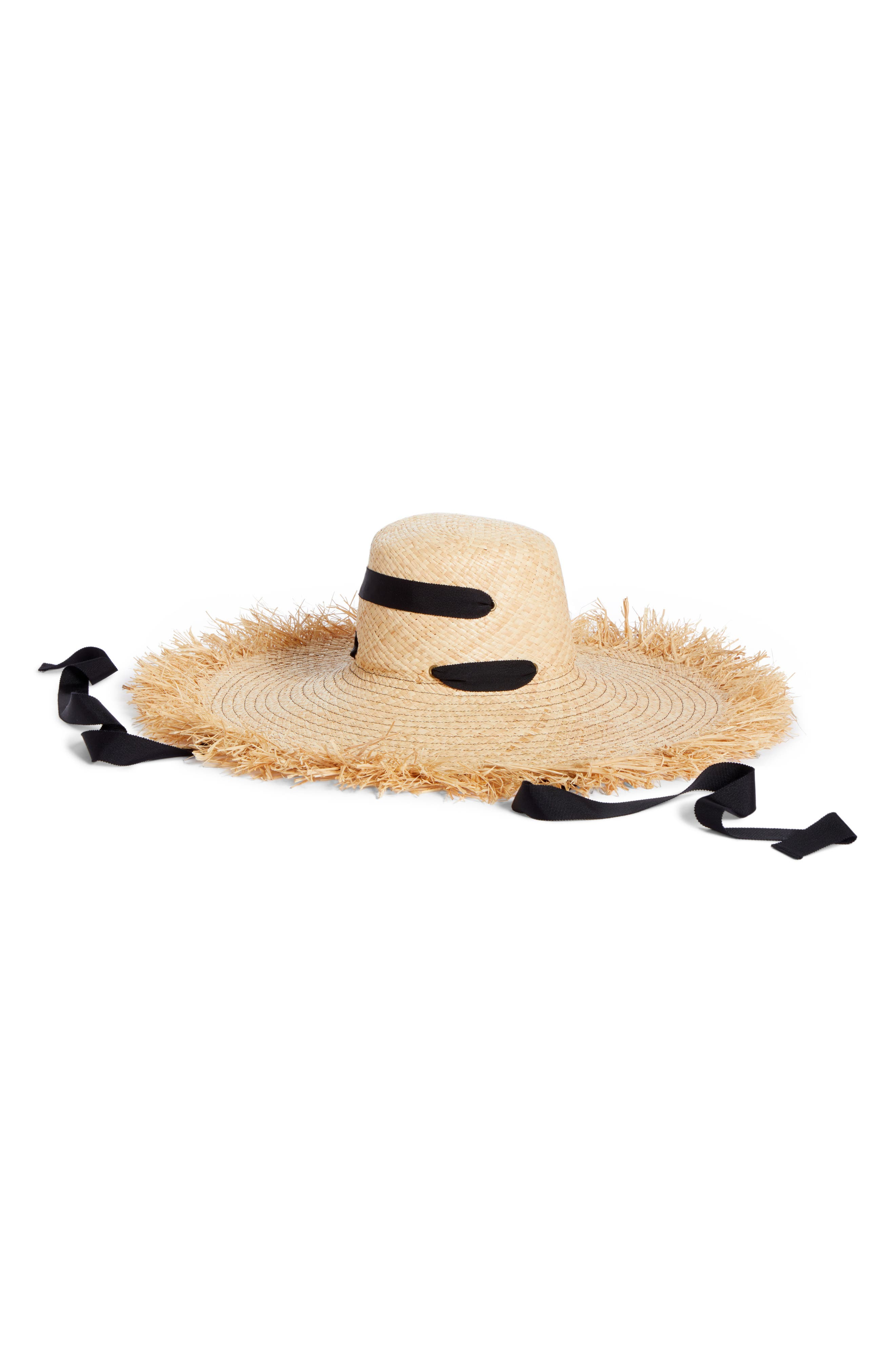 LOLA HATS Alpargatas Straw Hat, Main, color, NAT/ BLACK
