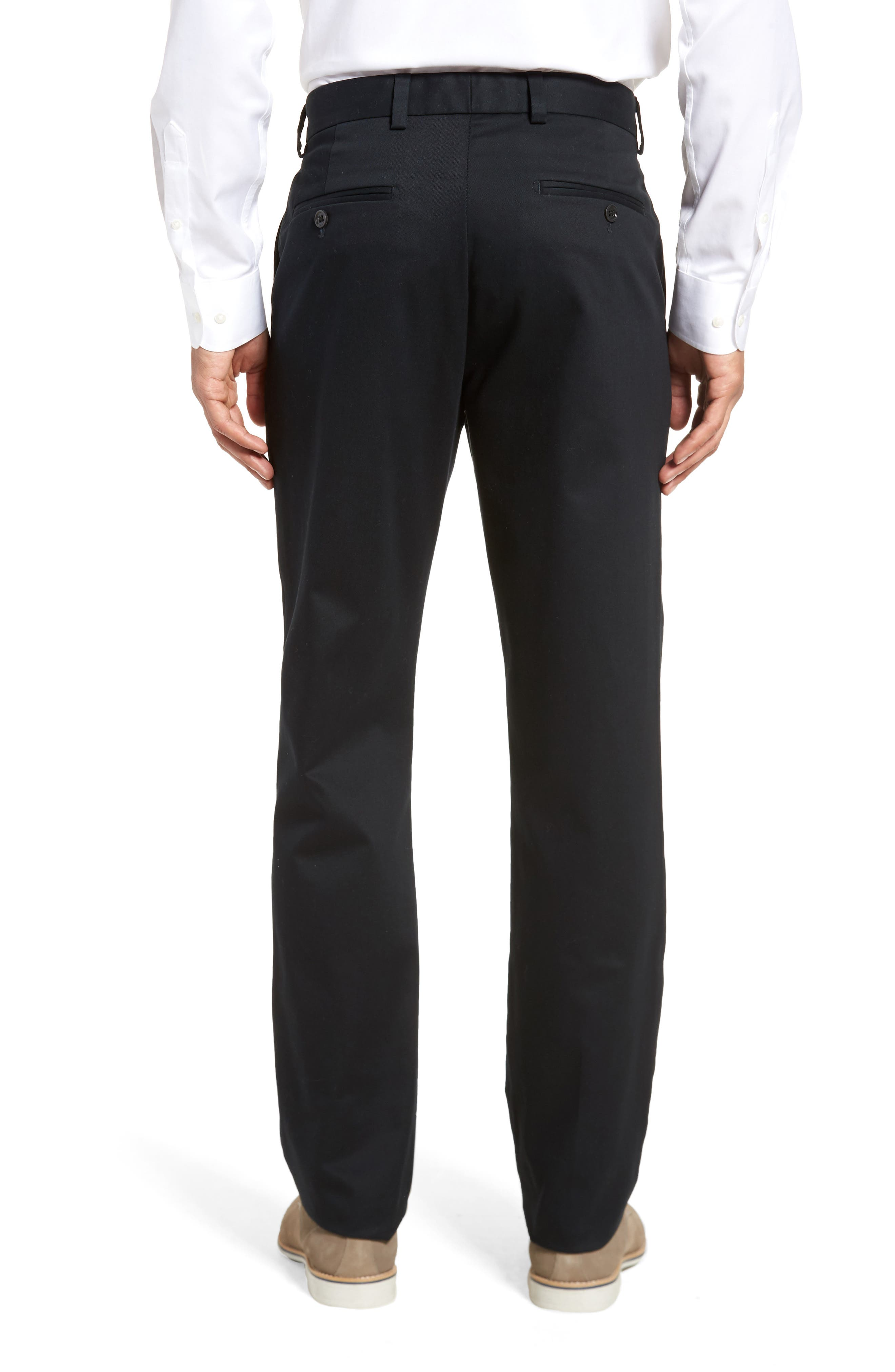 NORDSTROM MEN'S SHOP, Wrinkle Free Straight Leg Chinos, Alternate thumbnail 2, color, ANTHRACITE