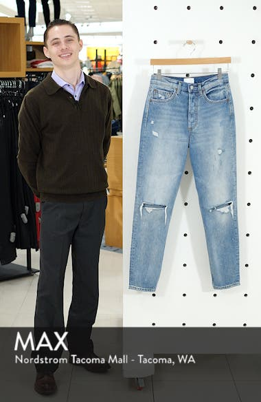 The Billy Ripped High Waist Ankle Skinny Jeans, sales video thumbnail