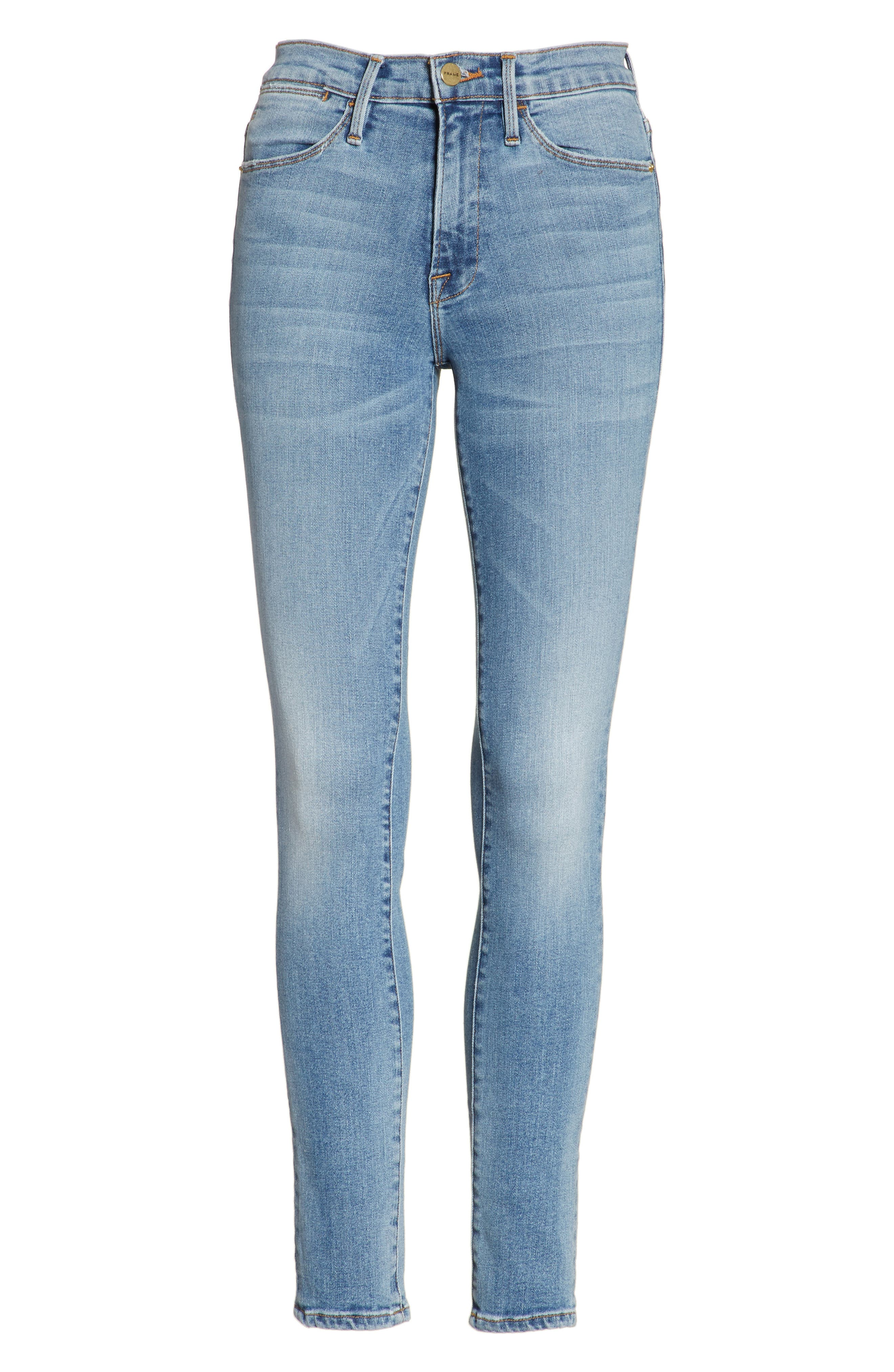 FRAME, Le High Crop Skinny Jeans, Alternate thumbnail 7, color, LOEHR