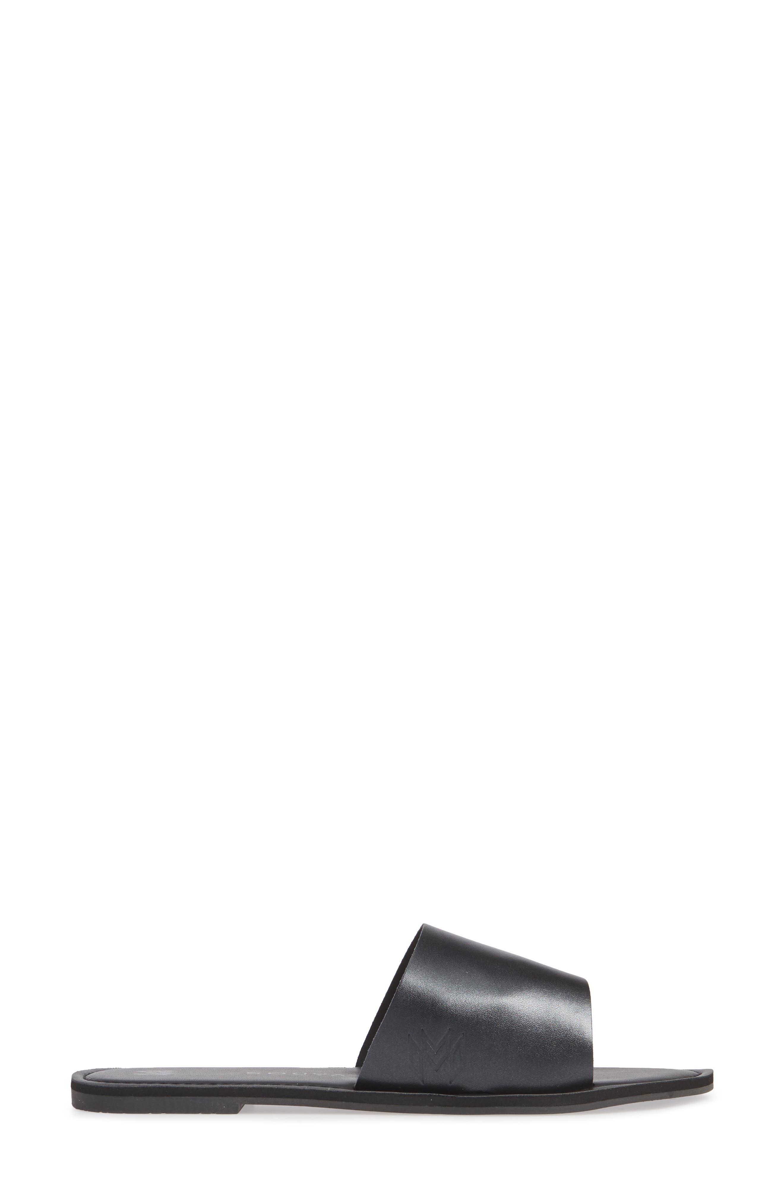 MALVADOS, Icon Taylor Noir Slide Sandal, Alternate thumbnail 3, color, LIQUORISH