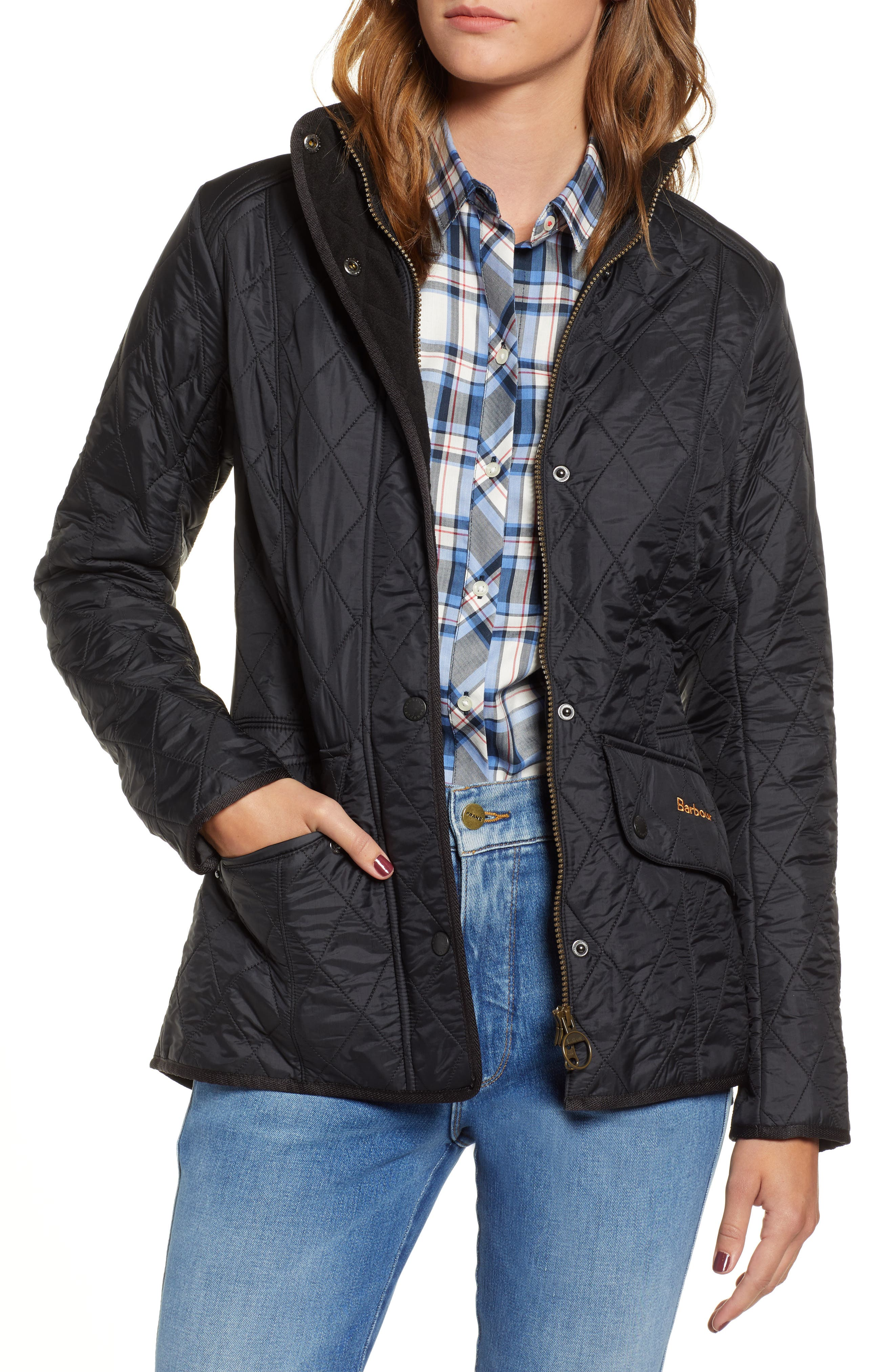 BARBOUR, 'Cavalry' Quilted Jacket, Main thumbnail 1, color, 001