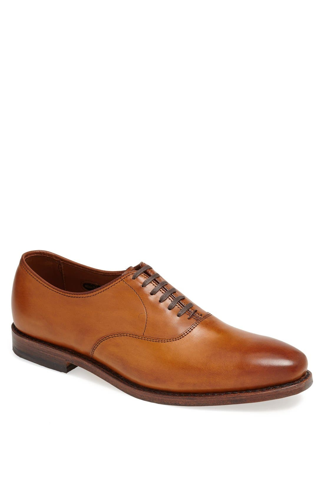 ALLEN EDMONDS Carlyle Plain Toe Oxford, Main, color, WALNUT LEATHER