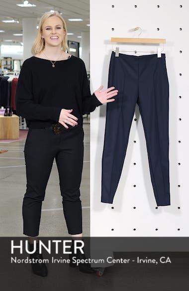 'Melissa' Slim Techno Cotton Ankle Pants, sales video thumbnail