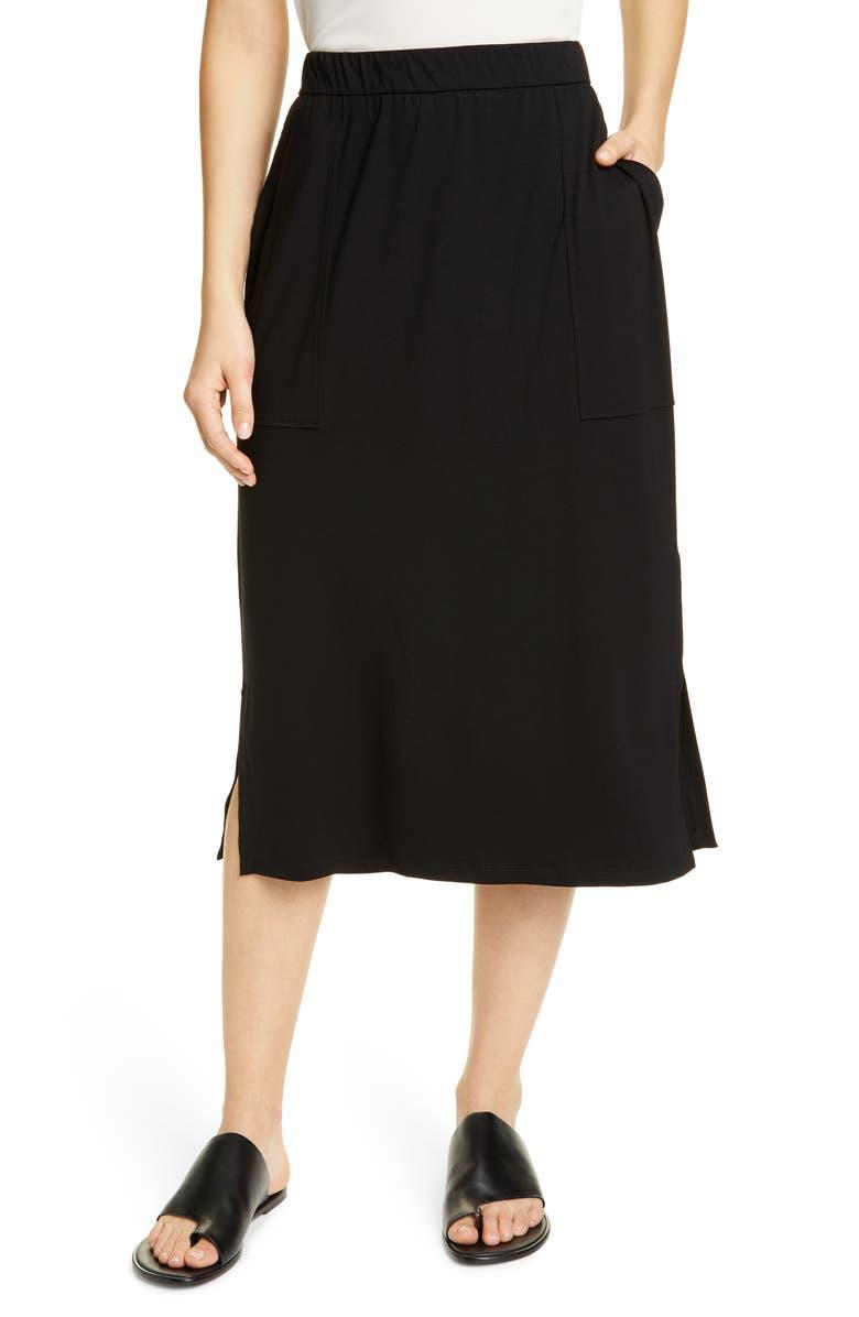 Eileen Fisher Skirts SLIM STRETCH TENCEL LYOCELL MIDI SKIRT