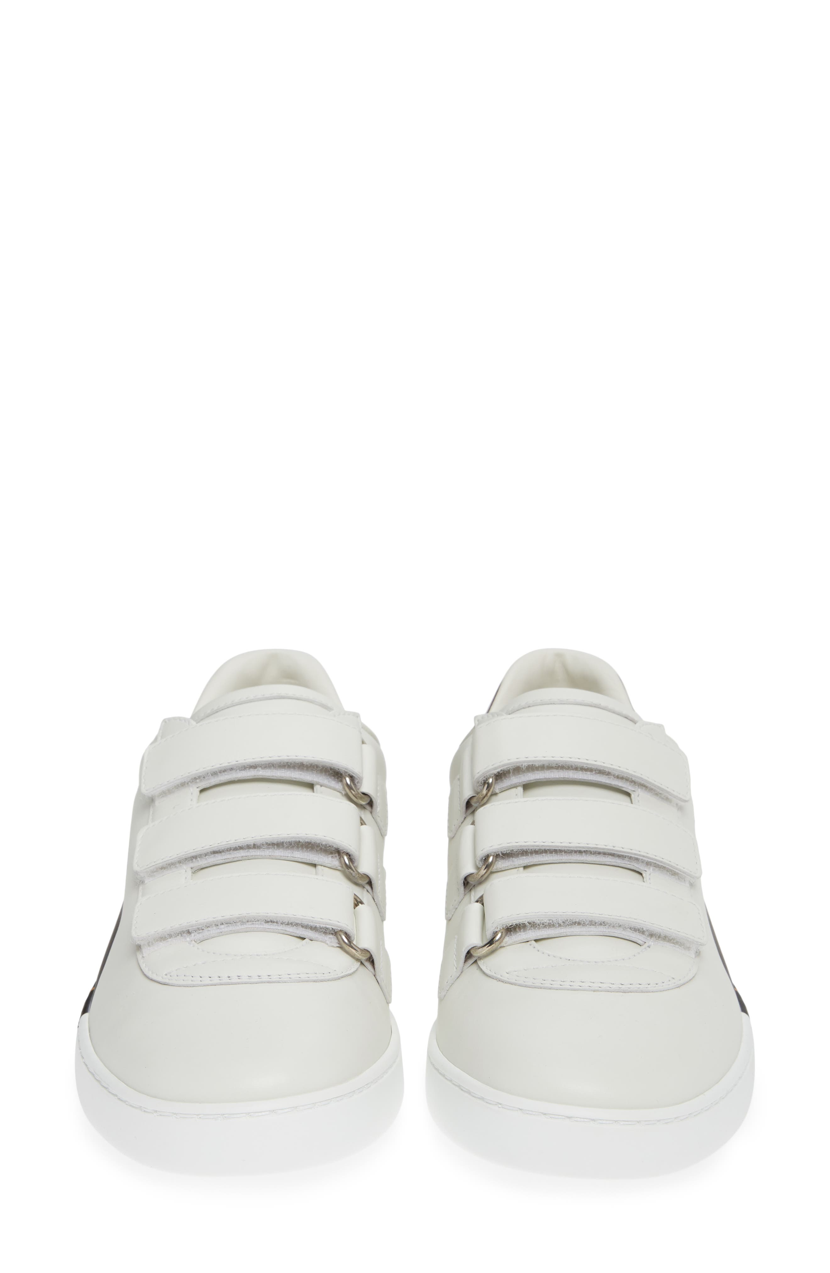 GUCCI, New Ace Sneaker, Alternate thumbnail 4, color, WHITE