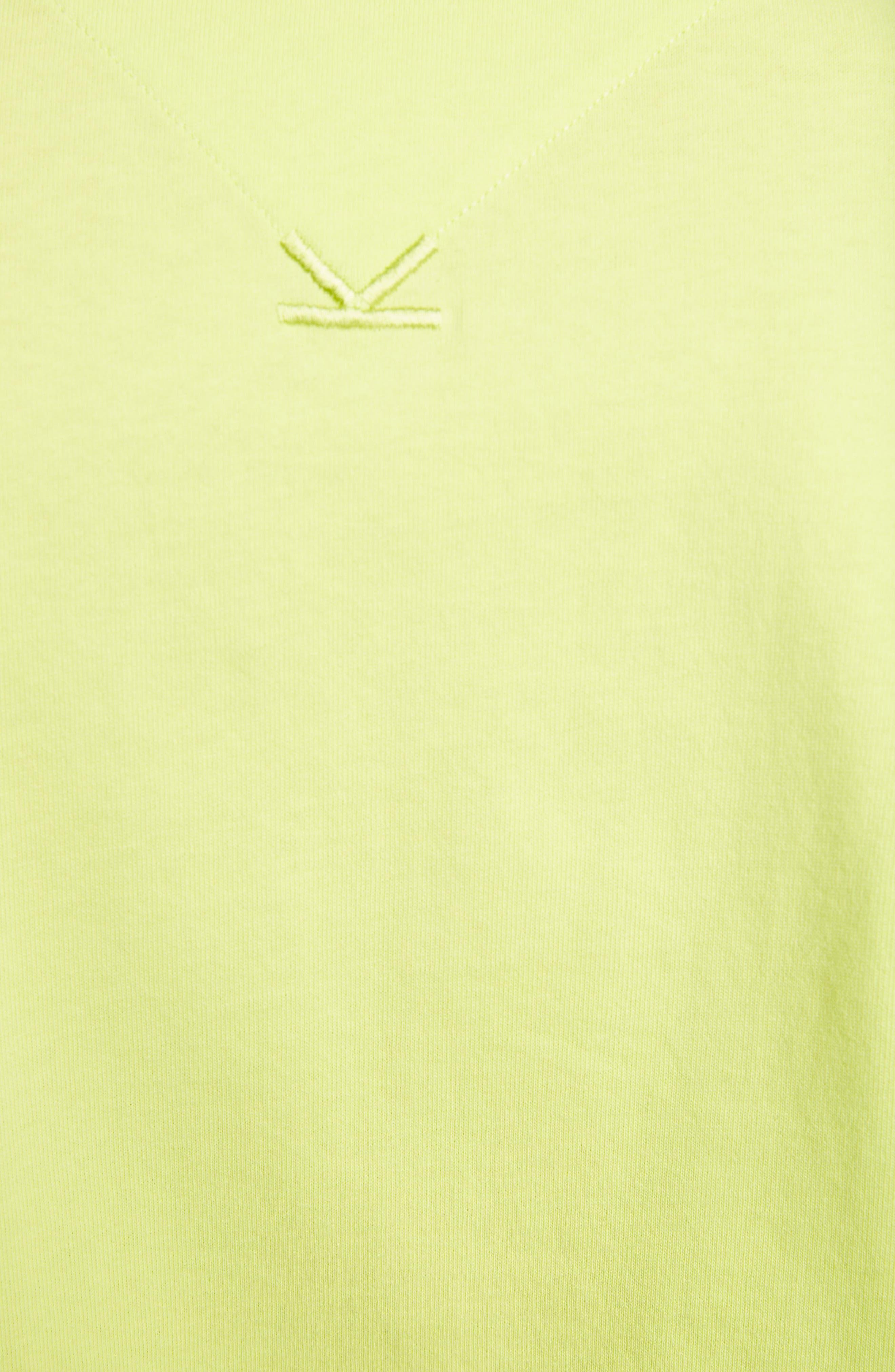 KENZO, Sport Logo T-Shirt, Alternate thumbnail 5, color, LEMON