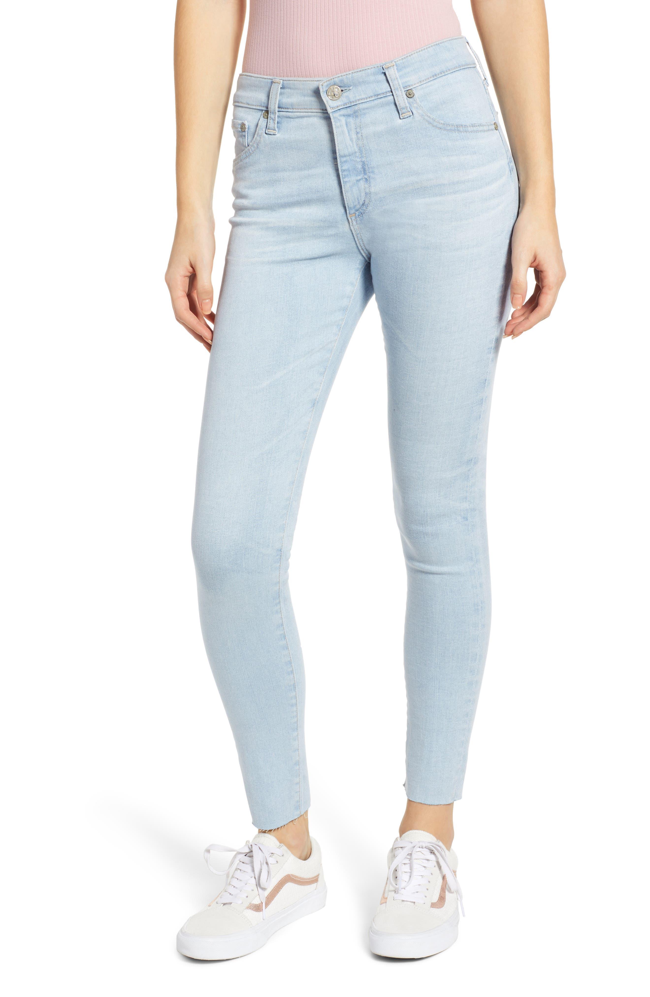 AG The Farrah High Waist Ankle Skinny Jeans, Main, color, 27 YEARS SHINING