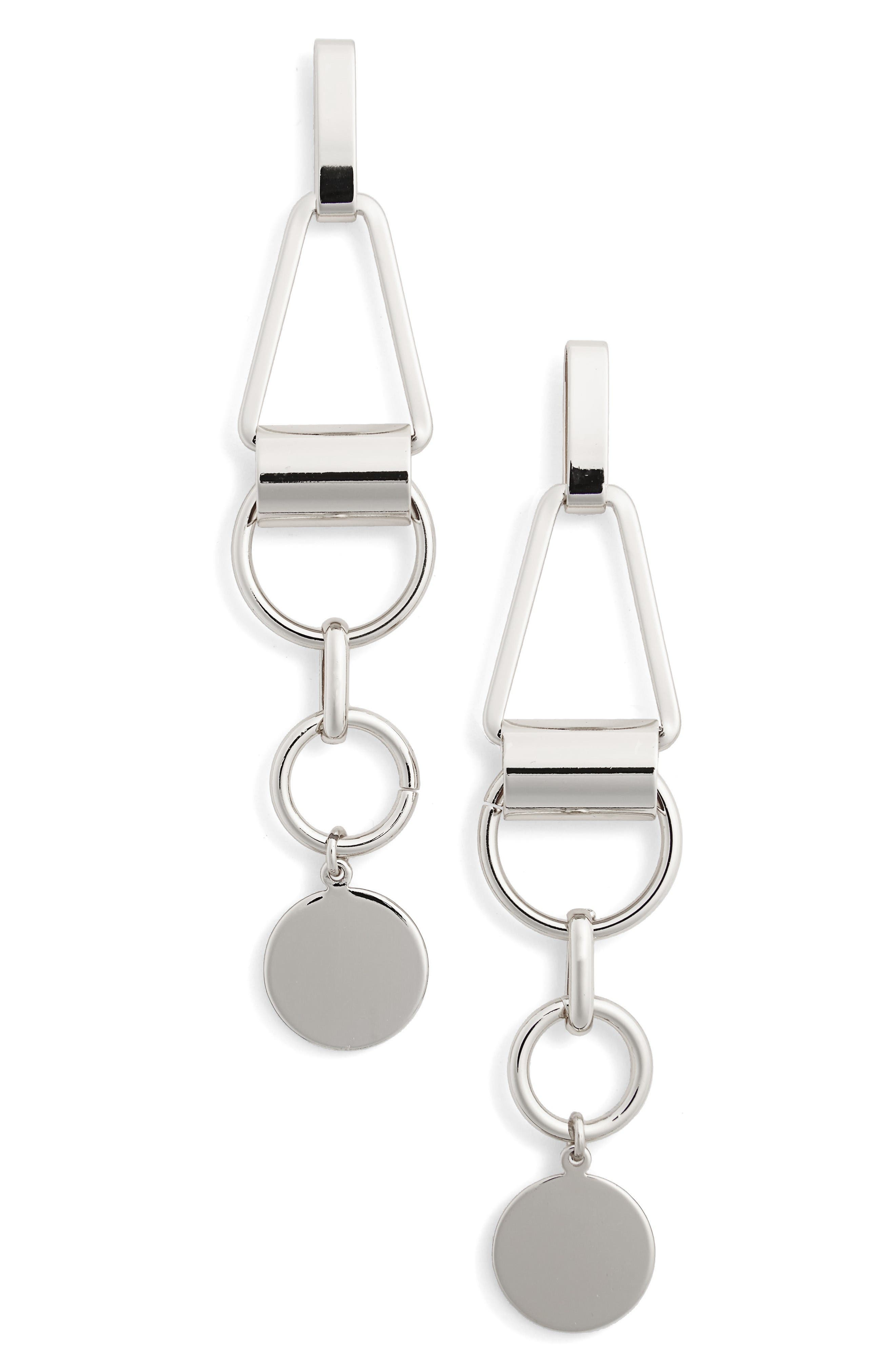 NORDSTROM, Geometric Drop Earrings, Main thumbnail 1, color, 040