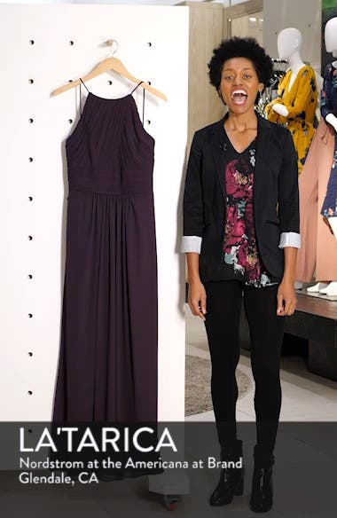 Low Back Pleated Chiffon Gown, sales video thumbnail