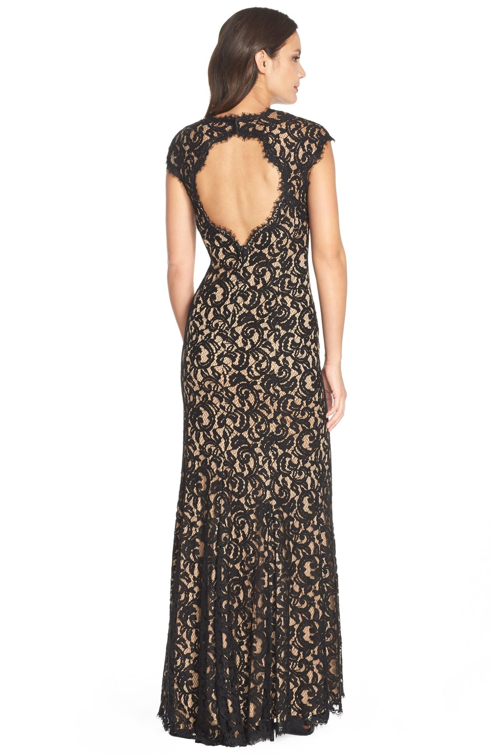 719c2e50 Tadashi 'Auburn' Corded Lace Gown (Regular & Petite) | Nordstrom