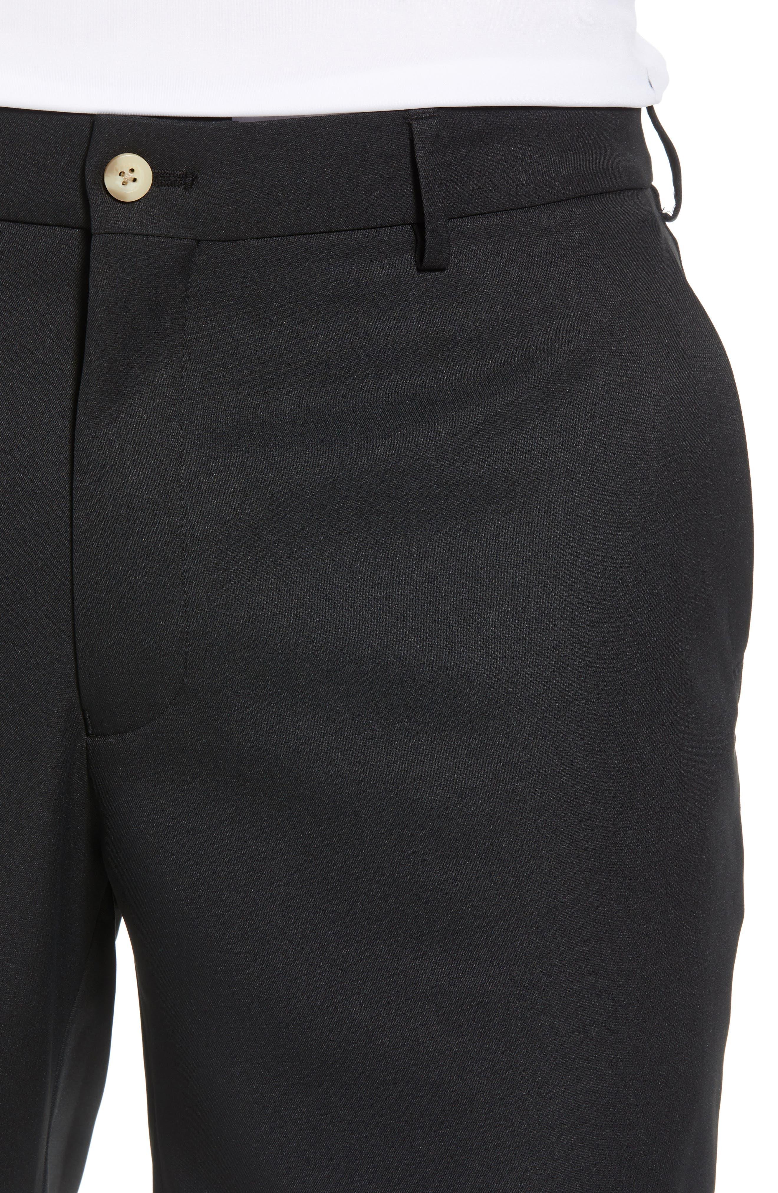 PETER MILLAR, Salem High Drape Performance Shorts, Alternate thumbnail 4, color, BLACK