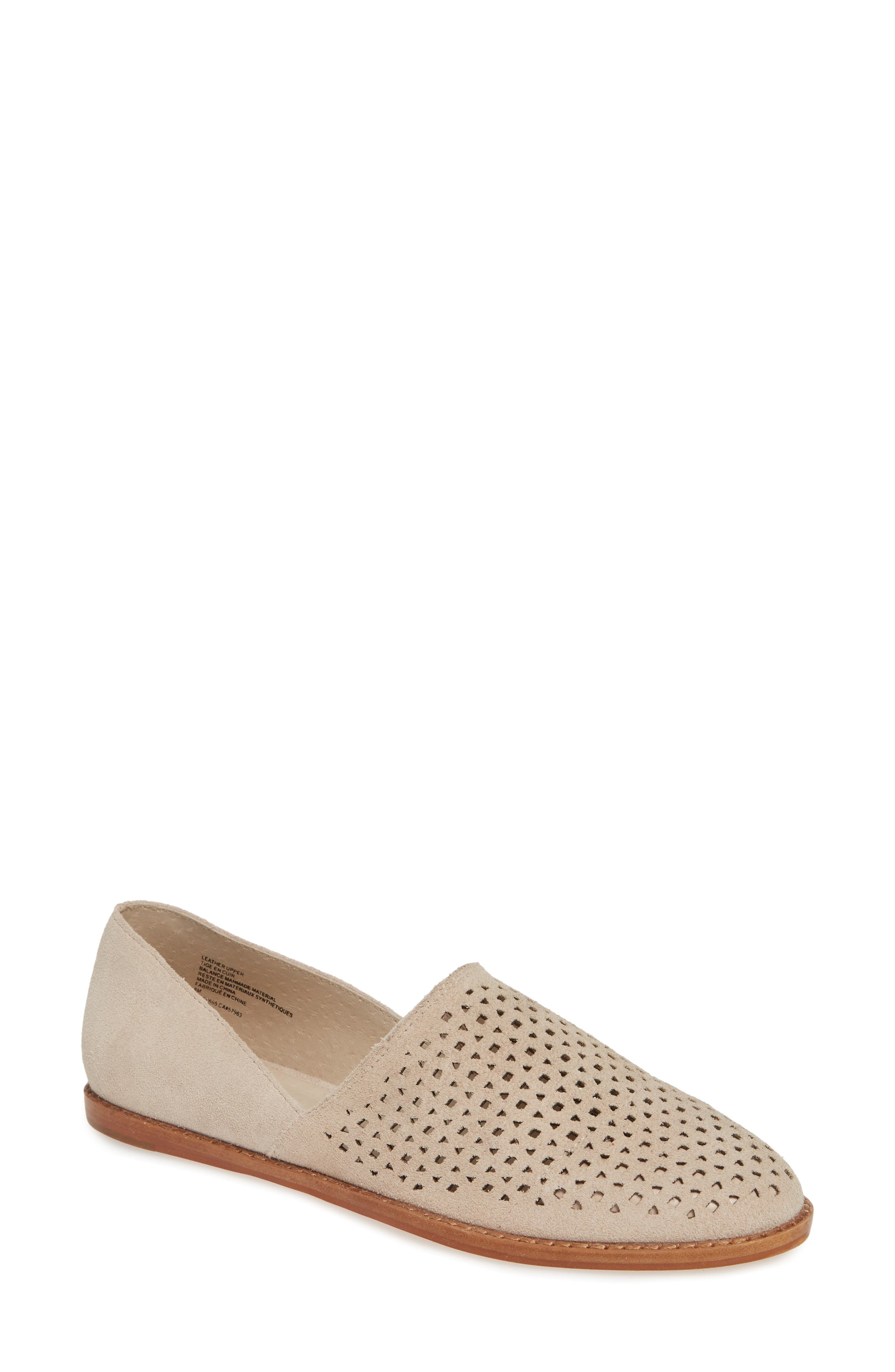 08c404ea6375 Caslon Adrian Perforated Flat- Beige
