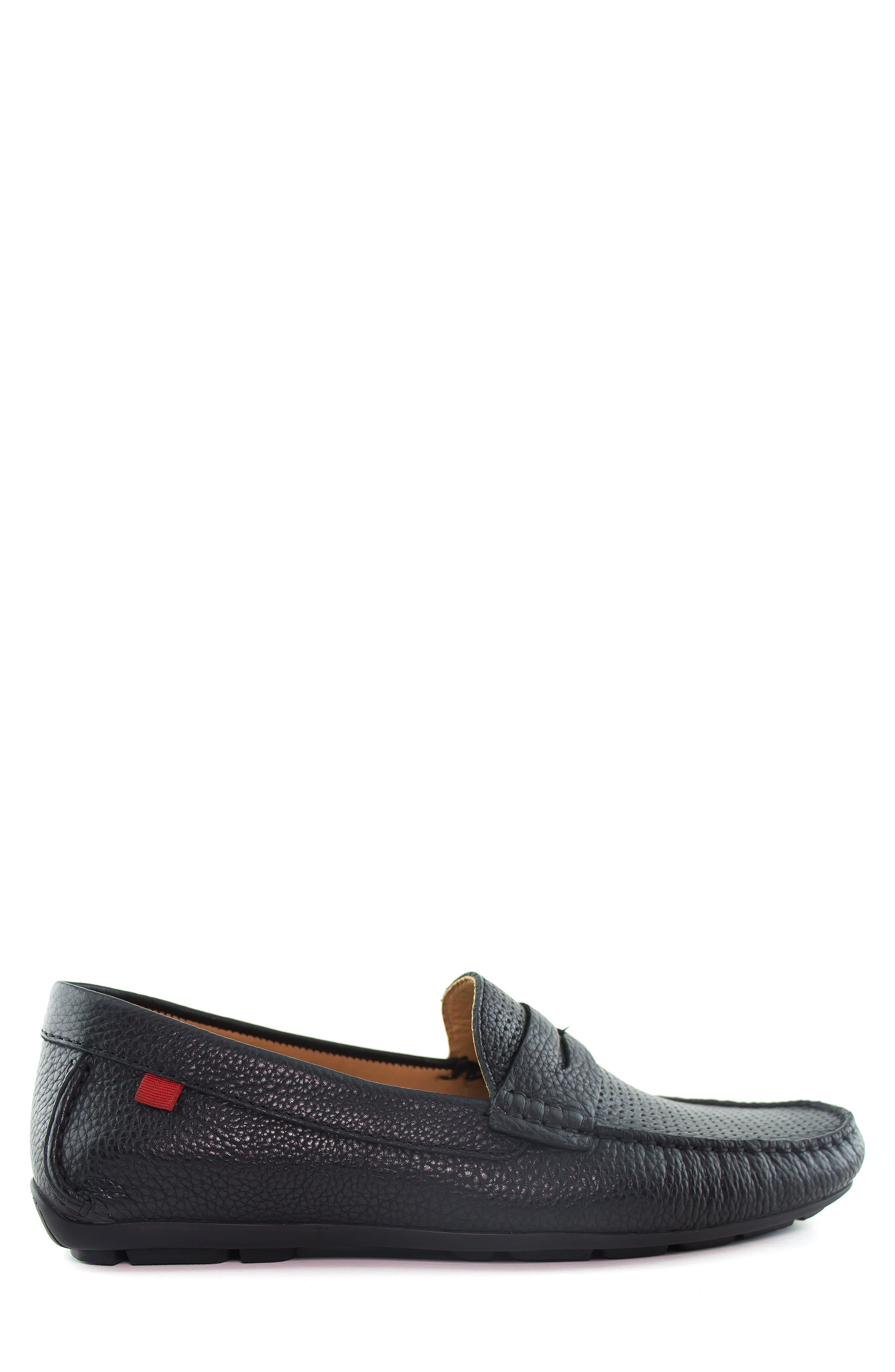 MARC JOSEPH NEW YORK, Union Street Driving Shoe, Alternate thumbnail 3, color, BLACK