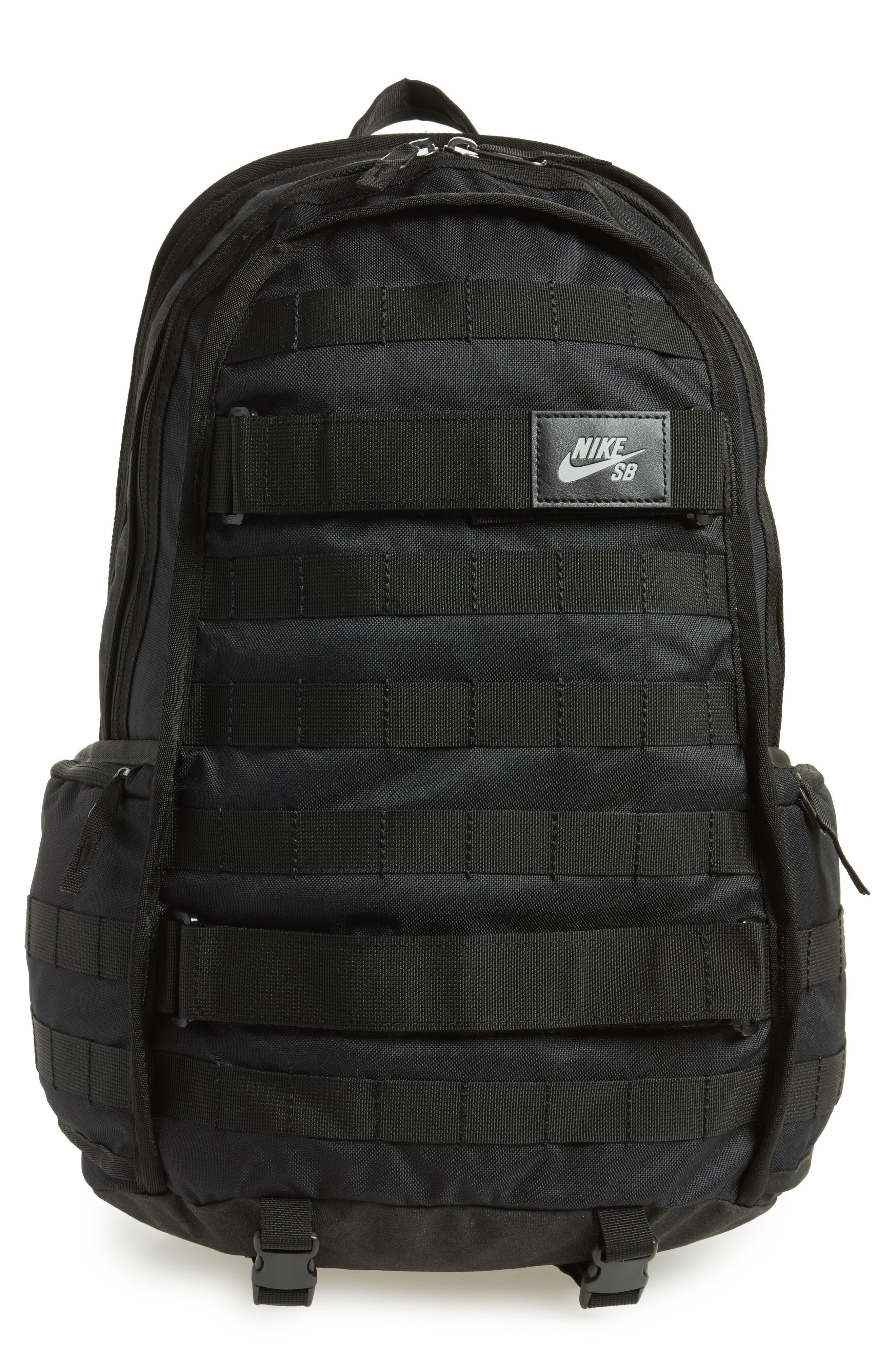 NIKE SB RPM Backpack, Main, color, BLACK/ BLACK/ BLACK