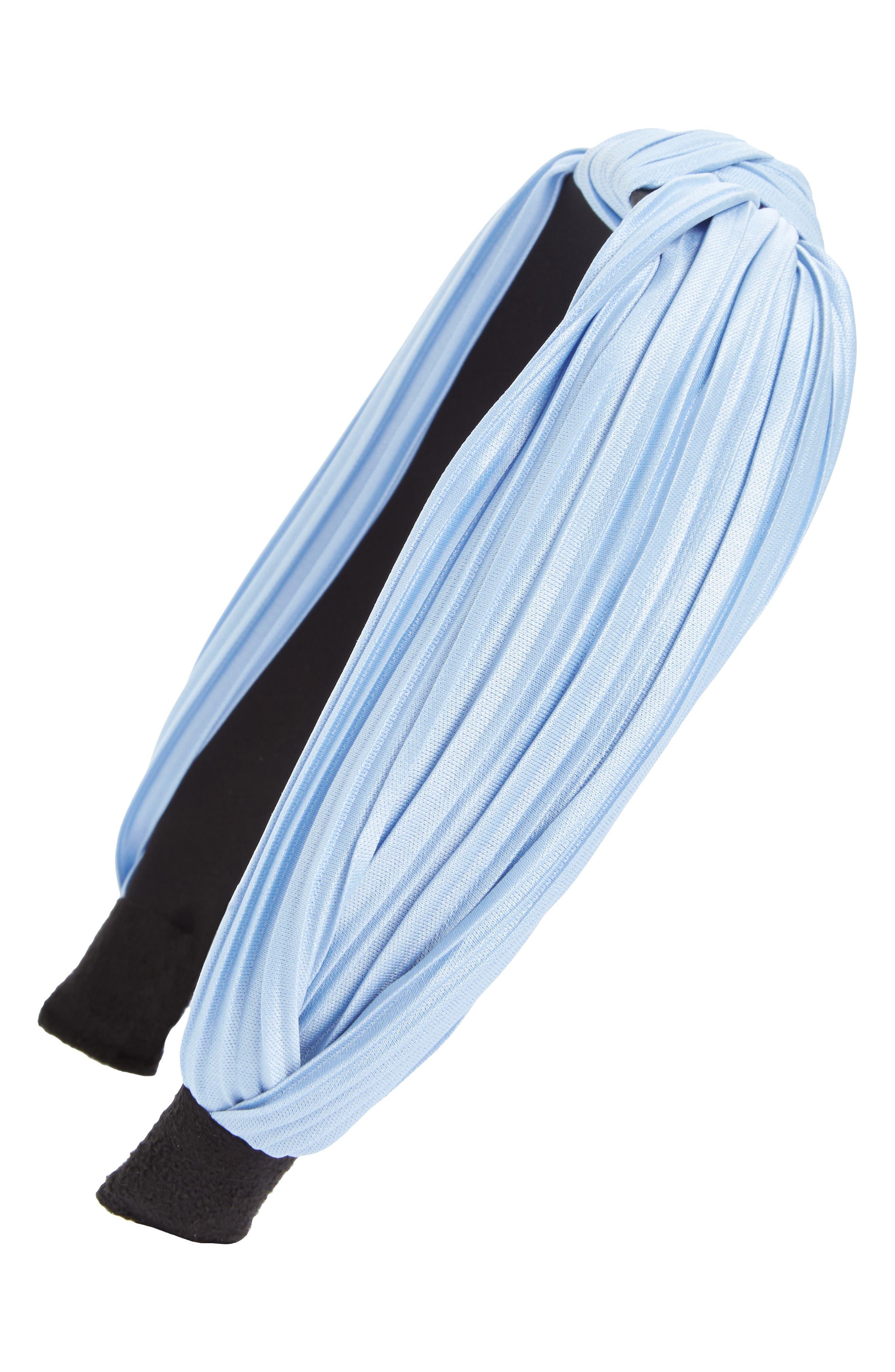 CARA Pleated Knot Headband, Main, color, 400