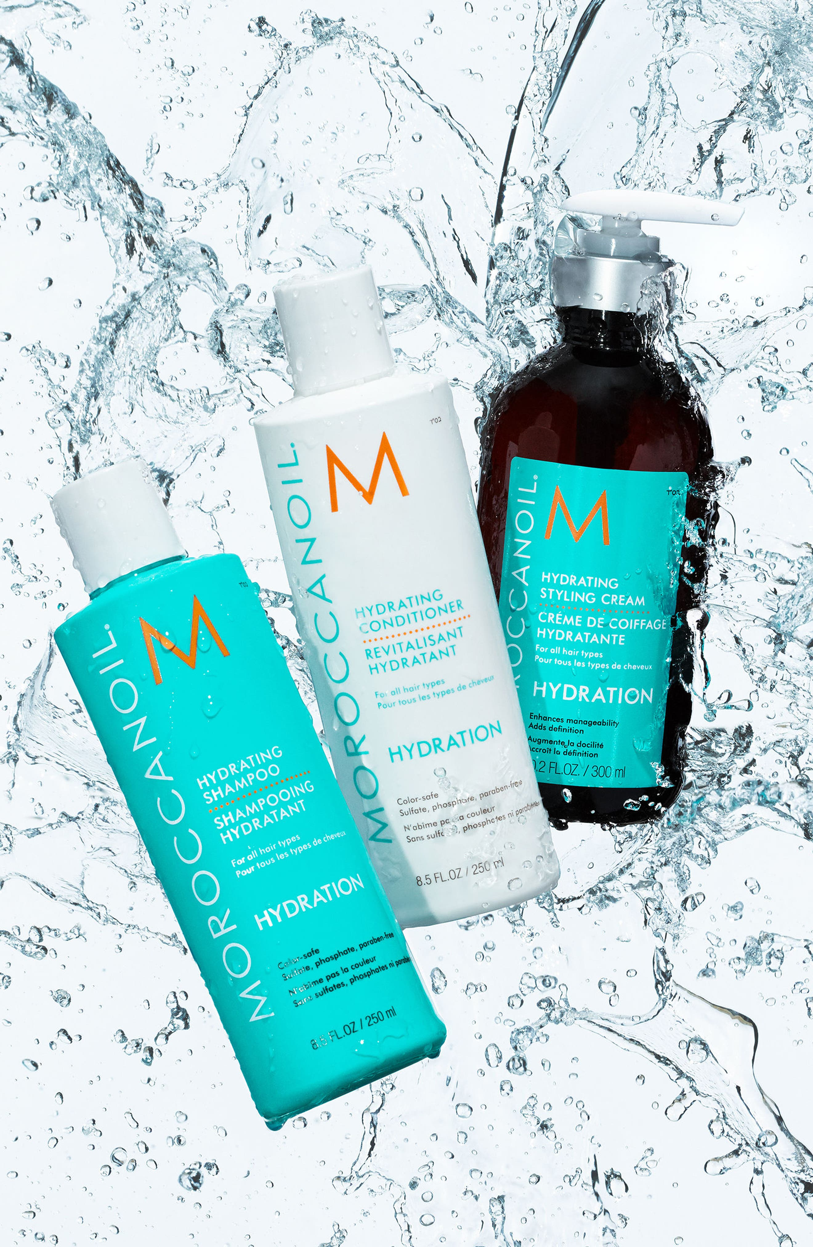MOROCCANOIL<SUP>®</SUP>, Hydrating Shampoo, Alternate thumbnail 3, color, NO COLOR