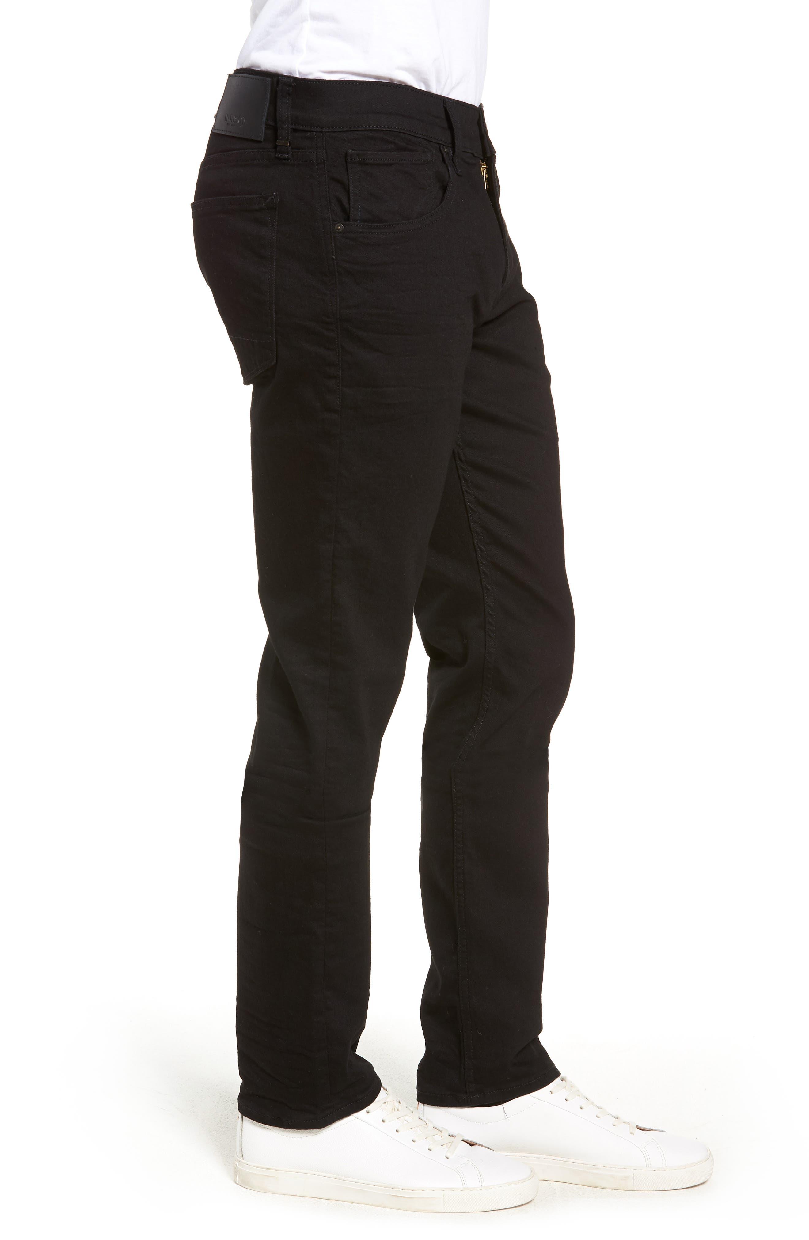 HUDSON JEANS, Blake Slim Fit Straight Leg Jeans, Alternate thumbnail 4, color, HASKETT