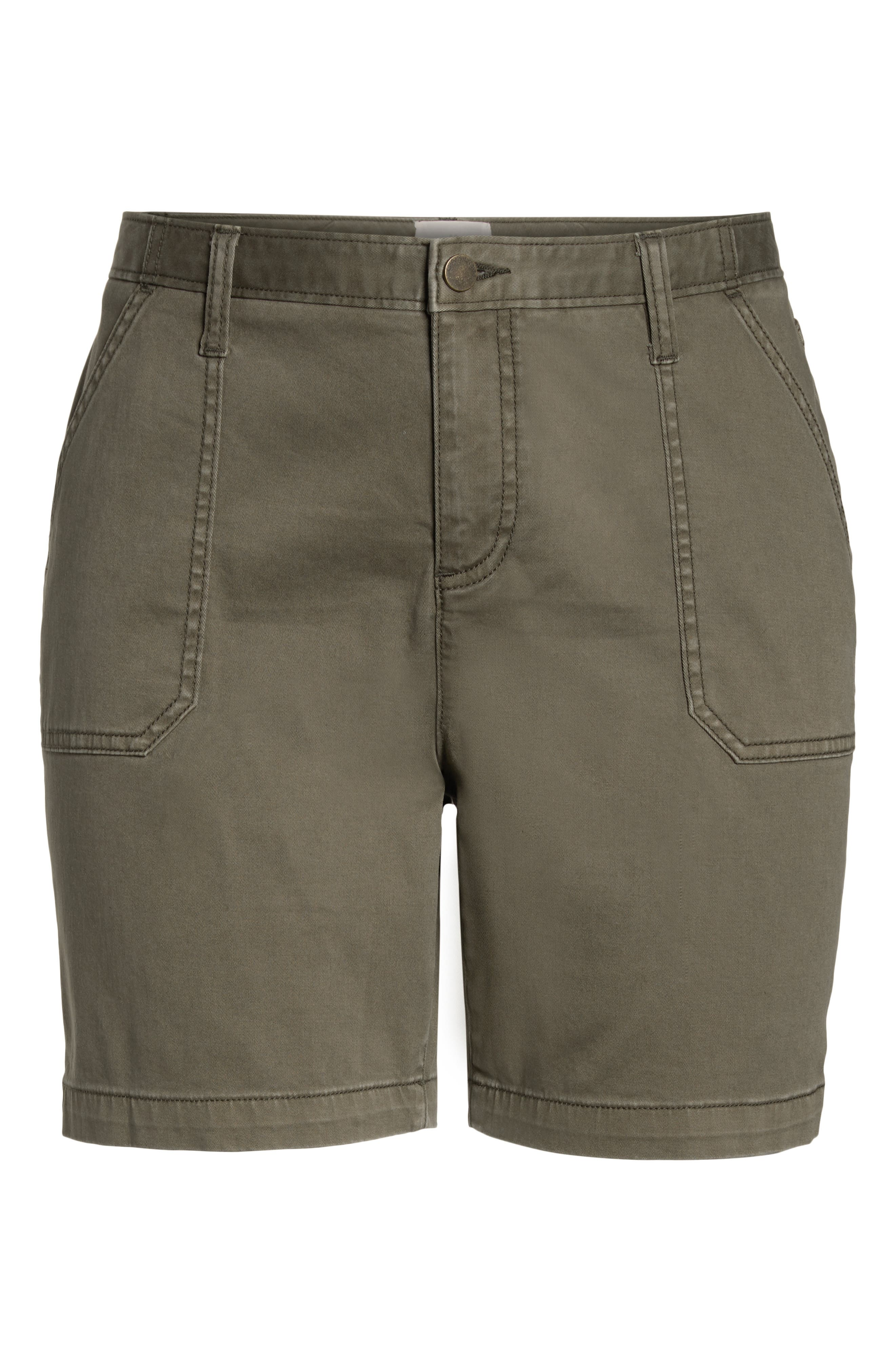 CASLON<SUP>®</SUP>, Utility Shorts, Alternate thumbnail 6, color, OLIVE SARMA