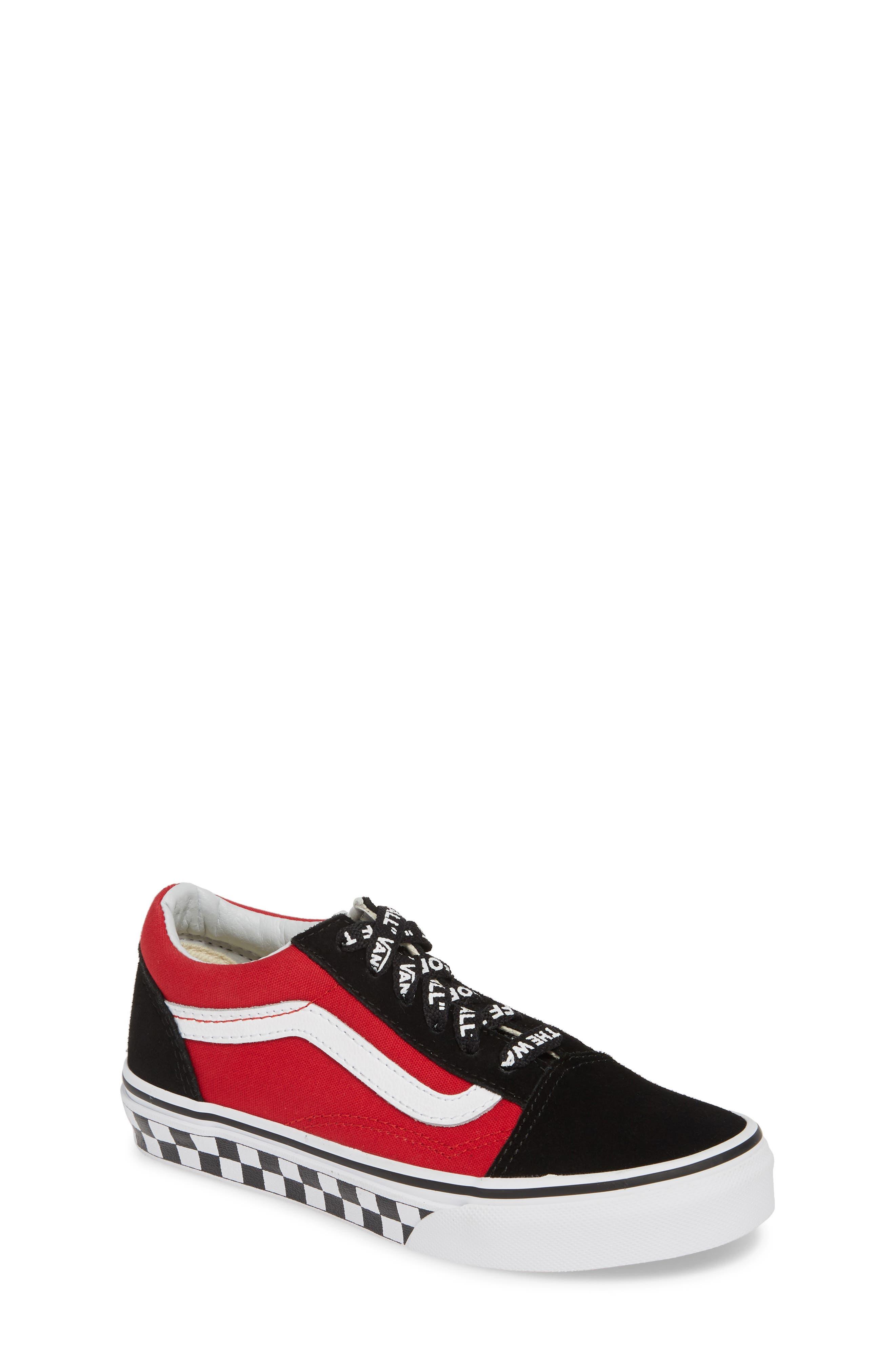 Boys Vans Old Skool Sneaker Size 6 M  Black