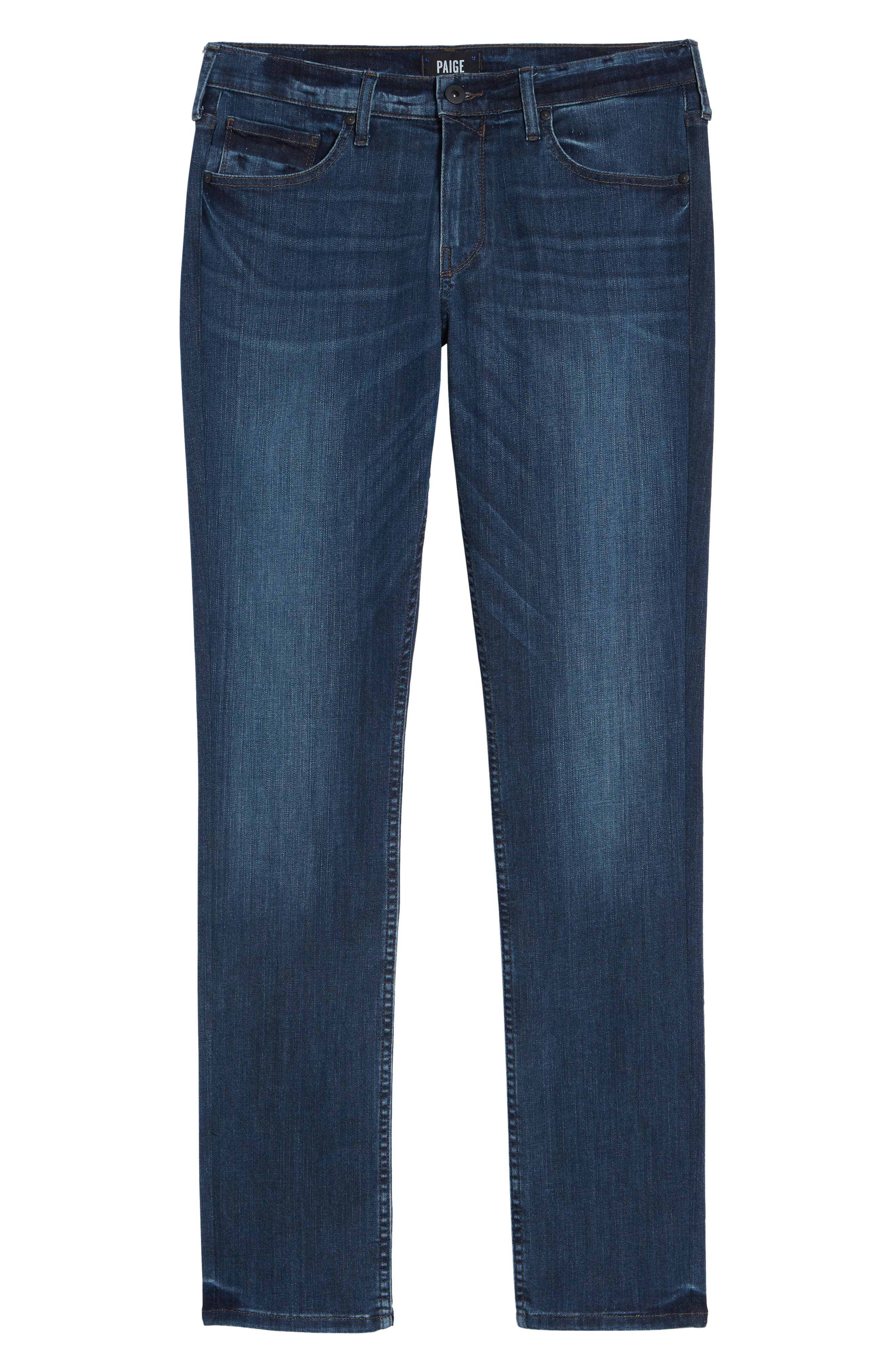 PAIGE, Transcend Vintage Federal Slim Straight Leg Jeans, Alternate thumbnail 7, color, ROARKE