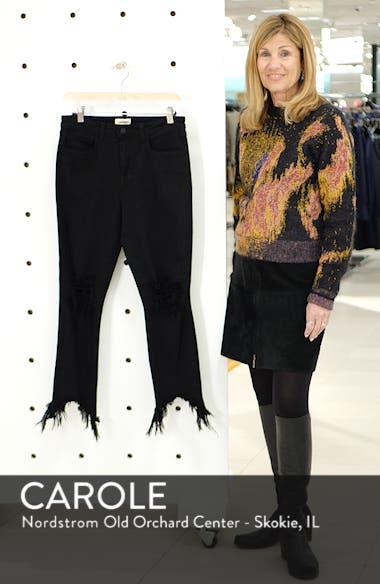 Highline High Waist Fray Hem Skinny Jeans, sales video thumbnail
