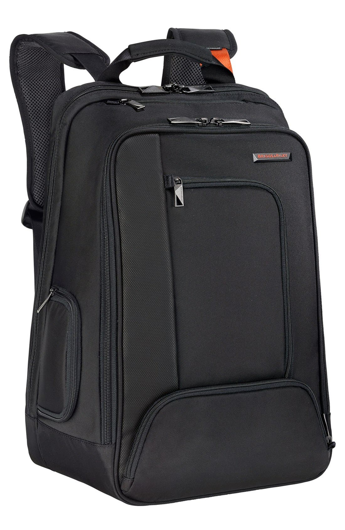 BRIGGS & RILEY, 'Verb - Accelerate' Backpack, Main thumbnail 1, color, BLACK