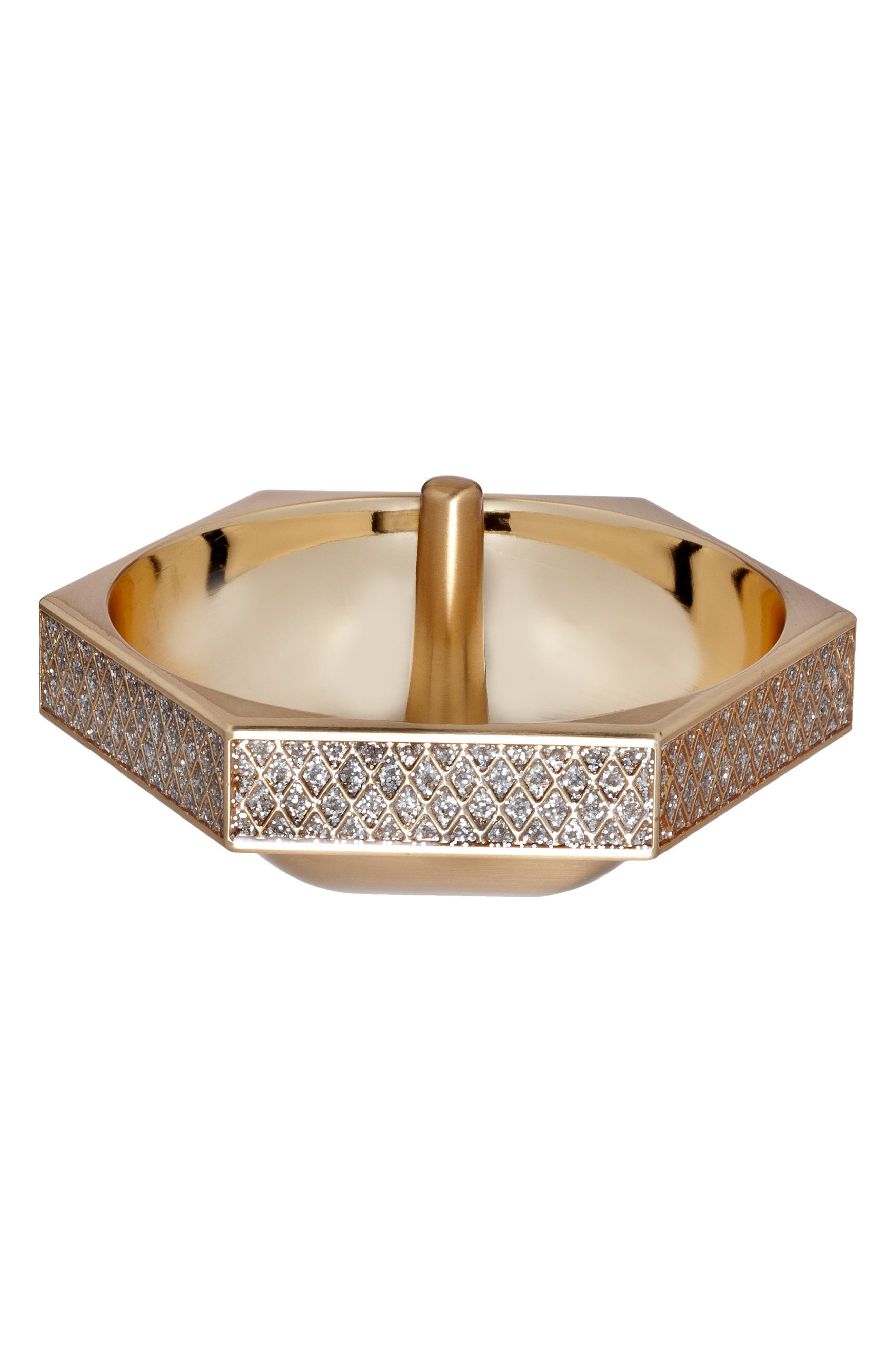 WATERFORD Lismore Diamond Gold Ring Holder, Main, color, CRYSTAL