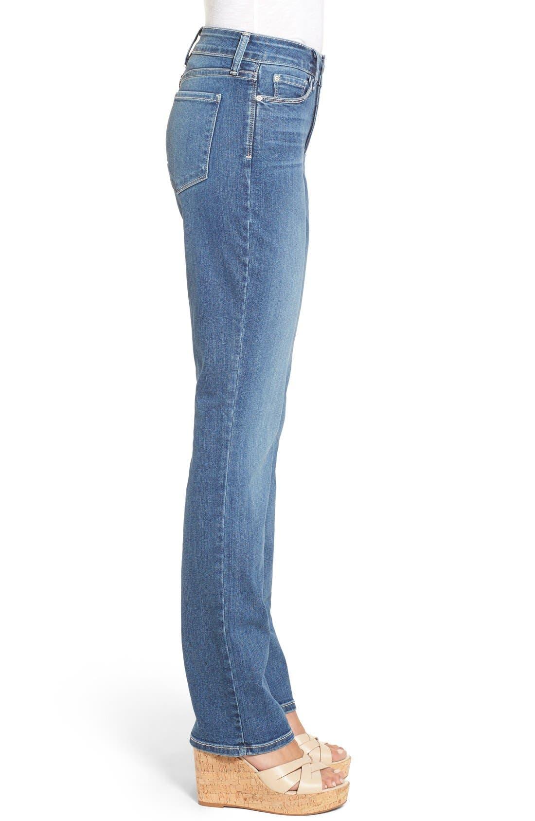 NYDJ, Marilyn Stretch Straight Leg Jeans, Alternate thumbnail 5, color, HEYBURN