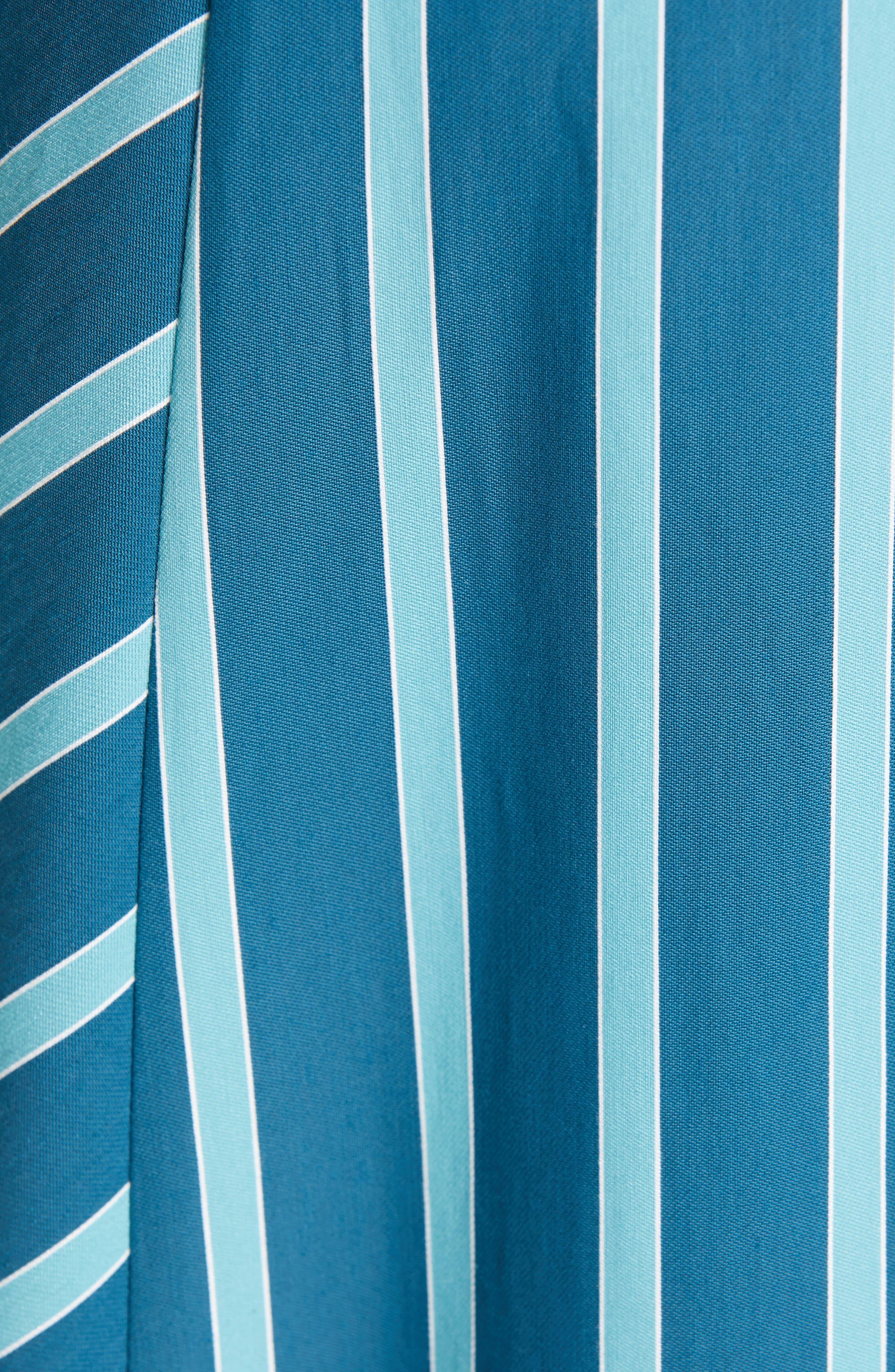 LAFAYETTE 148 NEW YORK, Siri Wrap Dress, Alternate thumbnail 6, color, PACIFIC MULTI