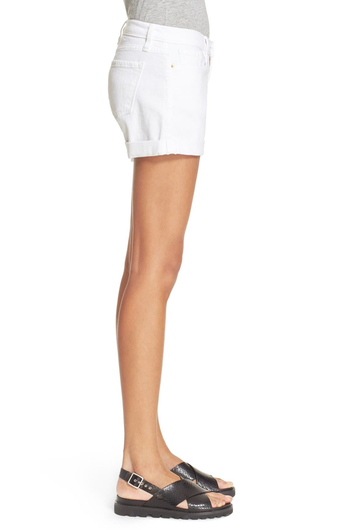 FRAME Le Cutoff Cuffed Jean Shorts, Main, color, BLANC