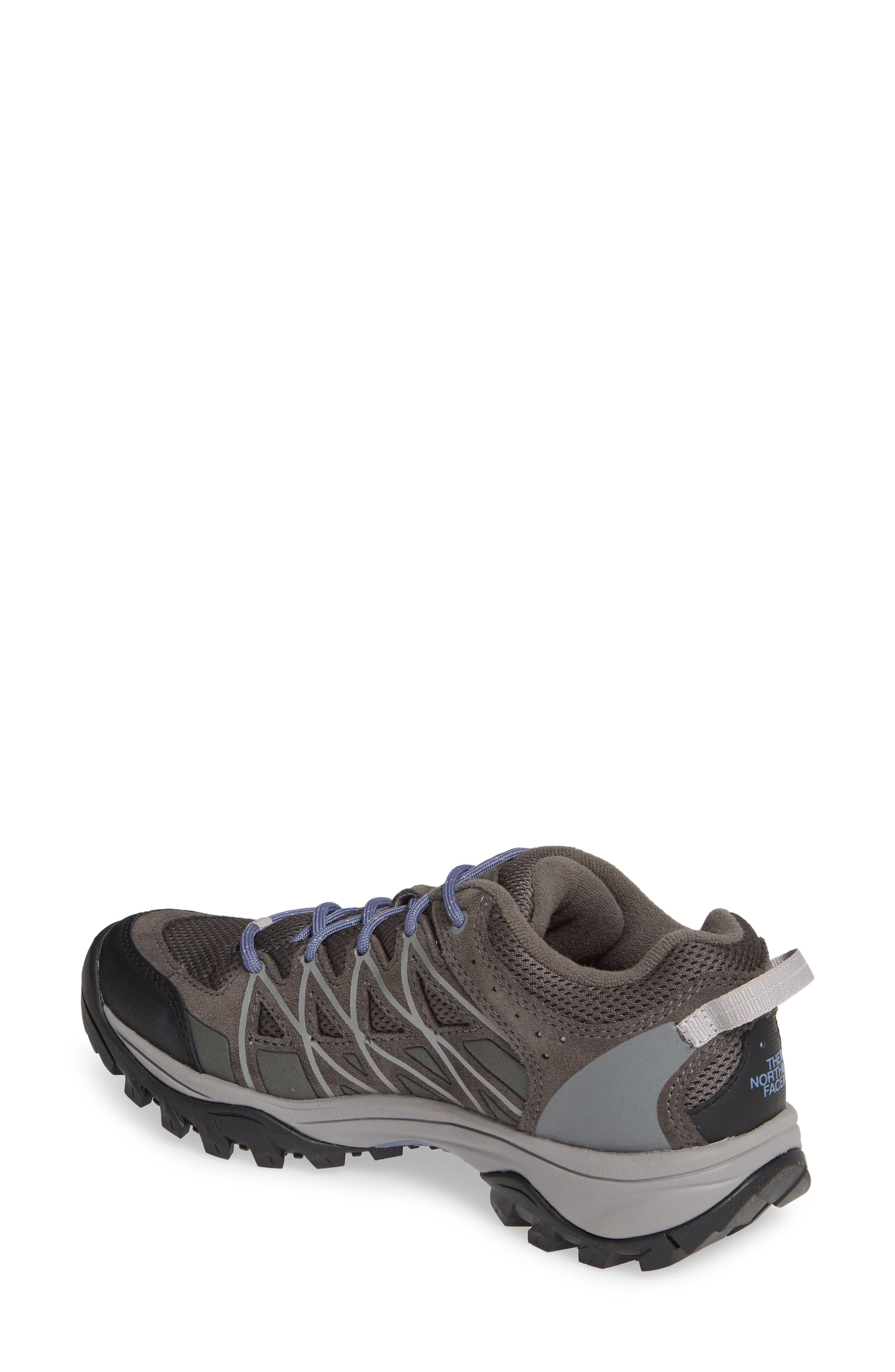 THE NORTH FACE, Storm III Waterproof Hiking Sneaker, Alternate thumbnail 2, color, DARK GULL GREY/ MARLIN BLUE