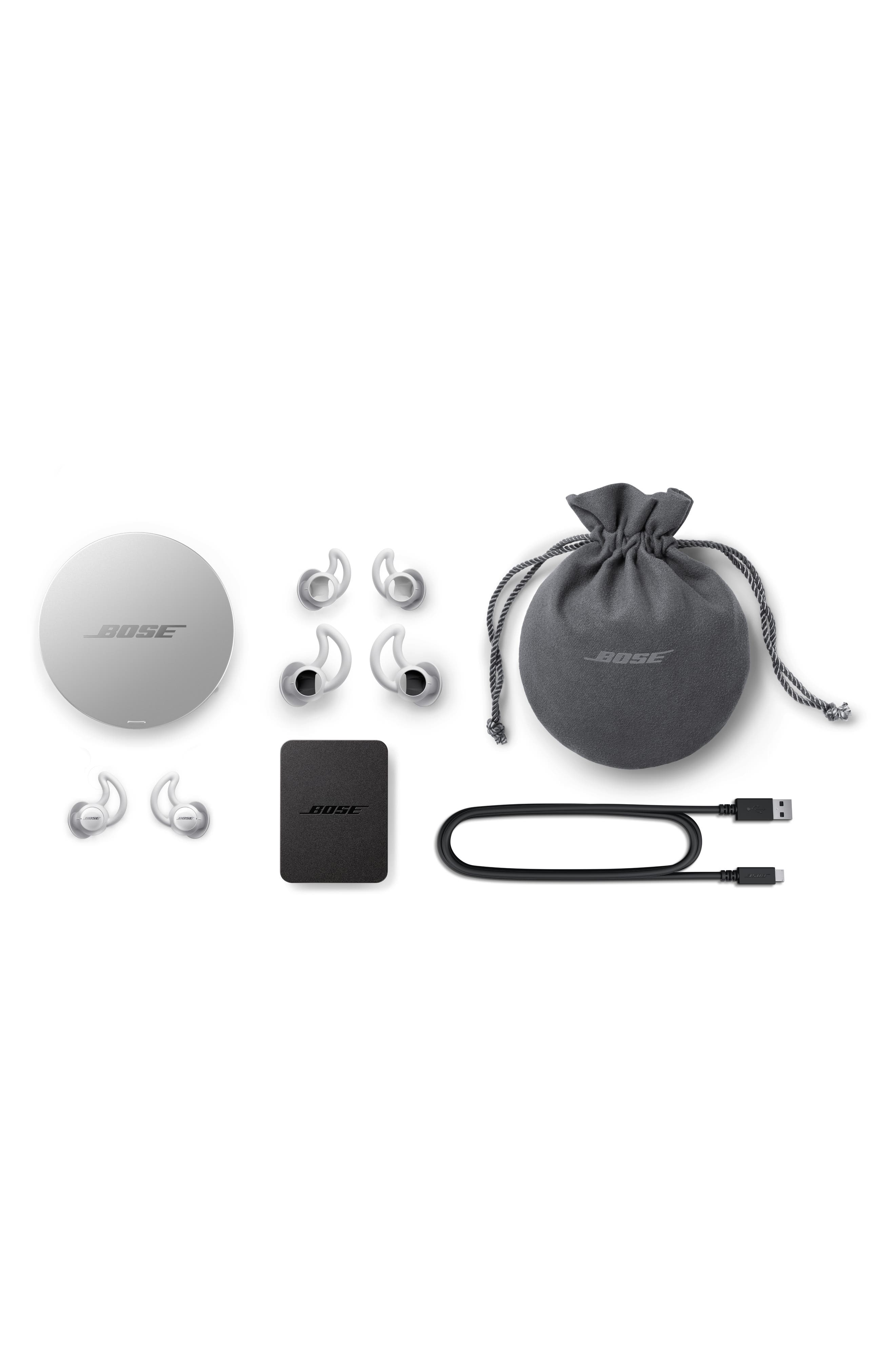 BOSE<SUP>®</SUP>, Noise Masking Sleepbuds, Alternate thumbnail 7, color, WHITE AND SILVER