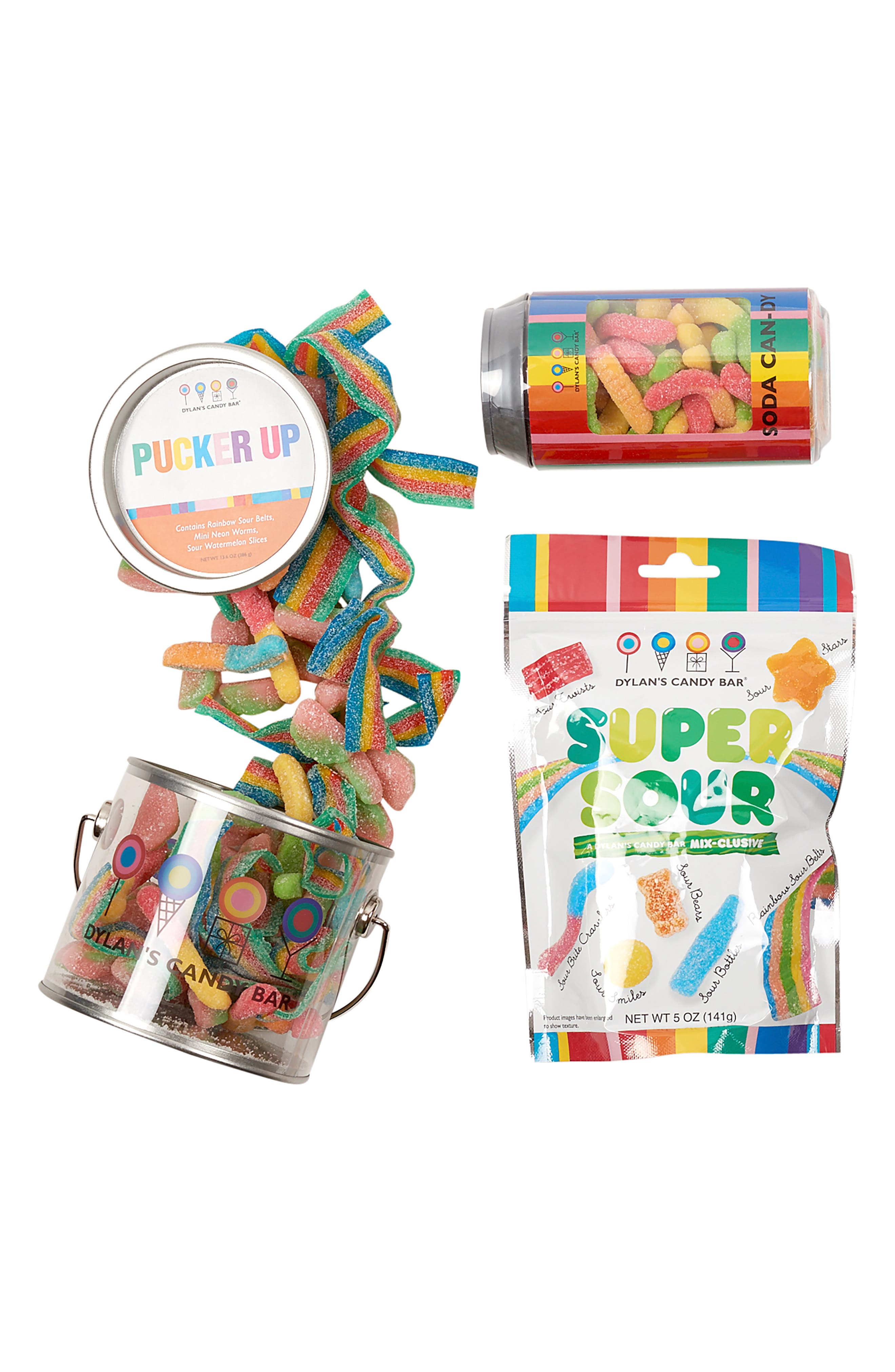 DYLAN'S CANDY BAR, Sour Lovers Bucket, Alternate thumbnail 2, color, MULTI