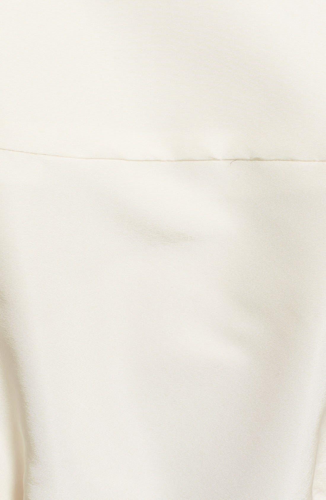 CAROLINA HERRERA, Belted Silk Wrap Blouse, Alternate thumbnail 3, color, 100