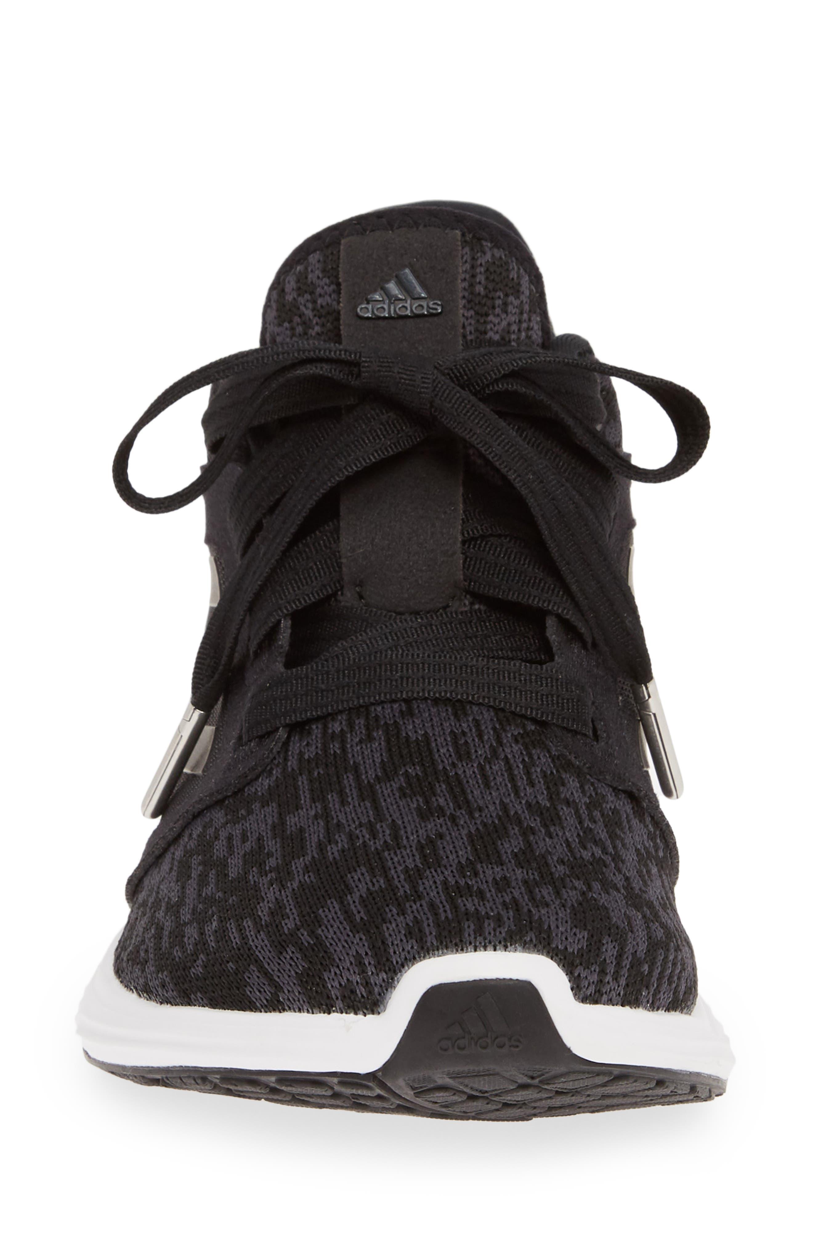 ADIDAS, Edge Lux 3 Running Shoe, Alternate thumbnail 4, color, CORE BLACK/ WHITE