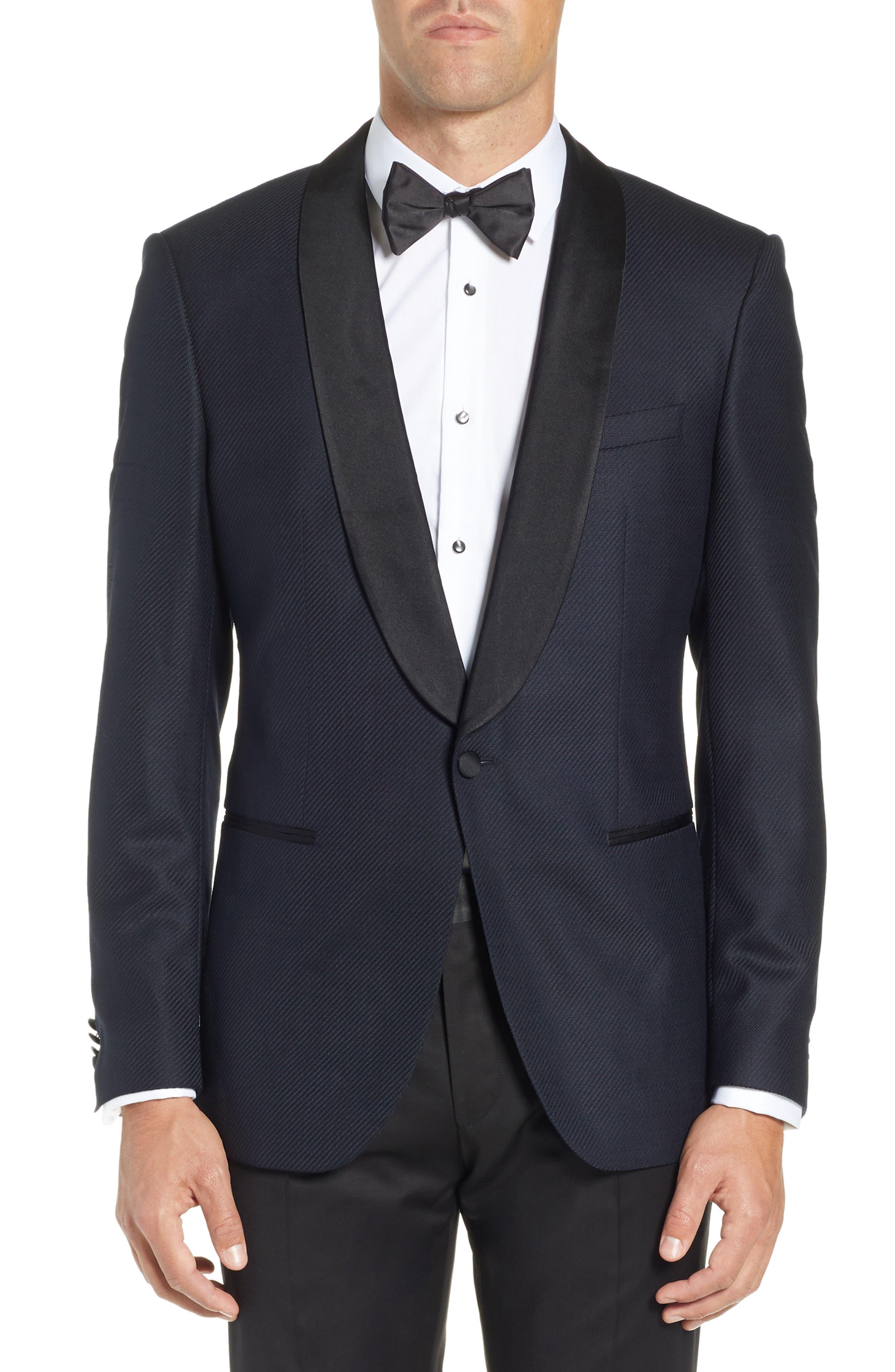 BOSS, Hockley Slim Fit Wool Dinner Jacket, Main thumbnail 1, color, 480