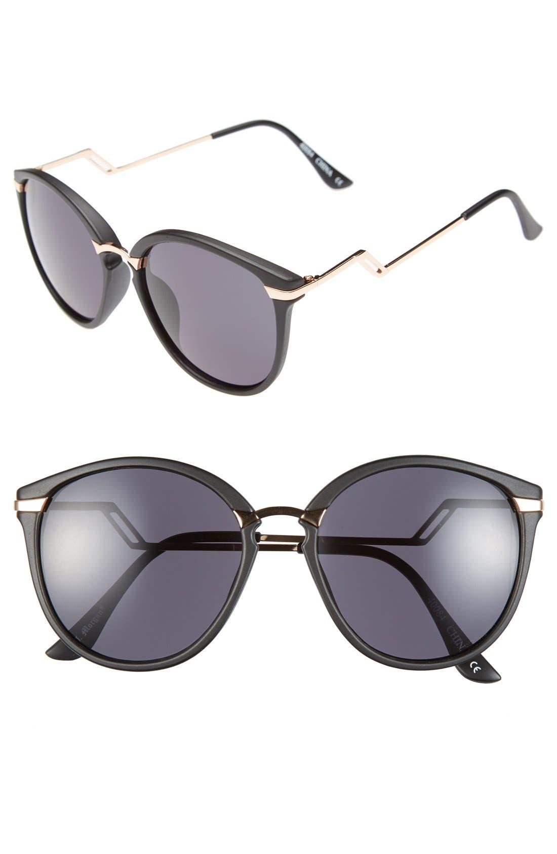 A.J. MORGAN, 'Sinclair' 54mm Sunglasses, Main thumbnail 1, color, 001