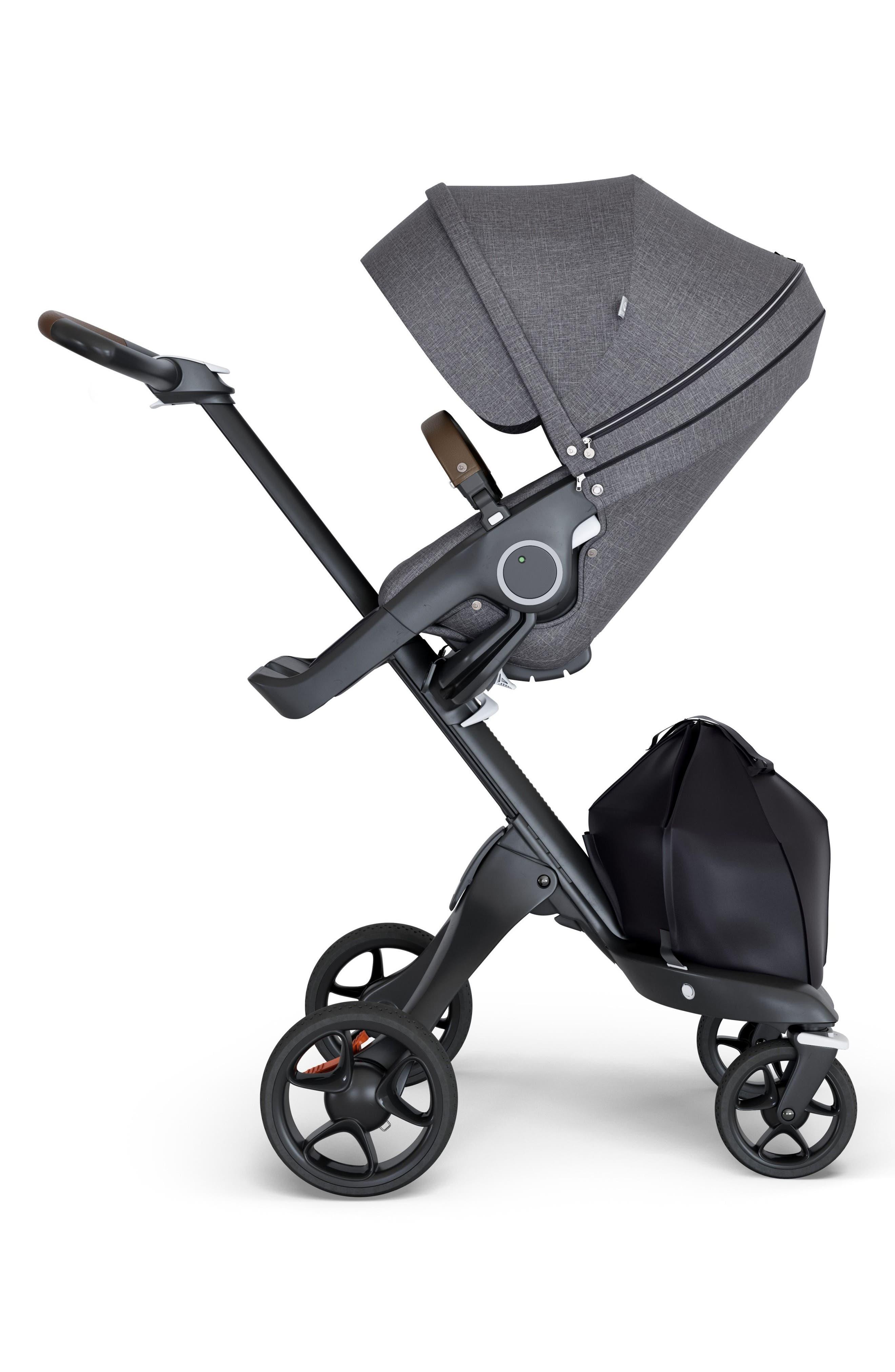 STOKKE, Xplory<sup>®</sup> Black Chassis Stroller, Main thumbnail 1, color, BLACK MELANGE