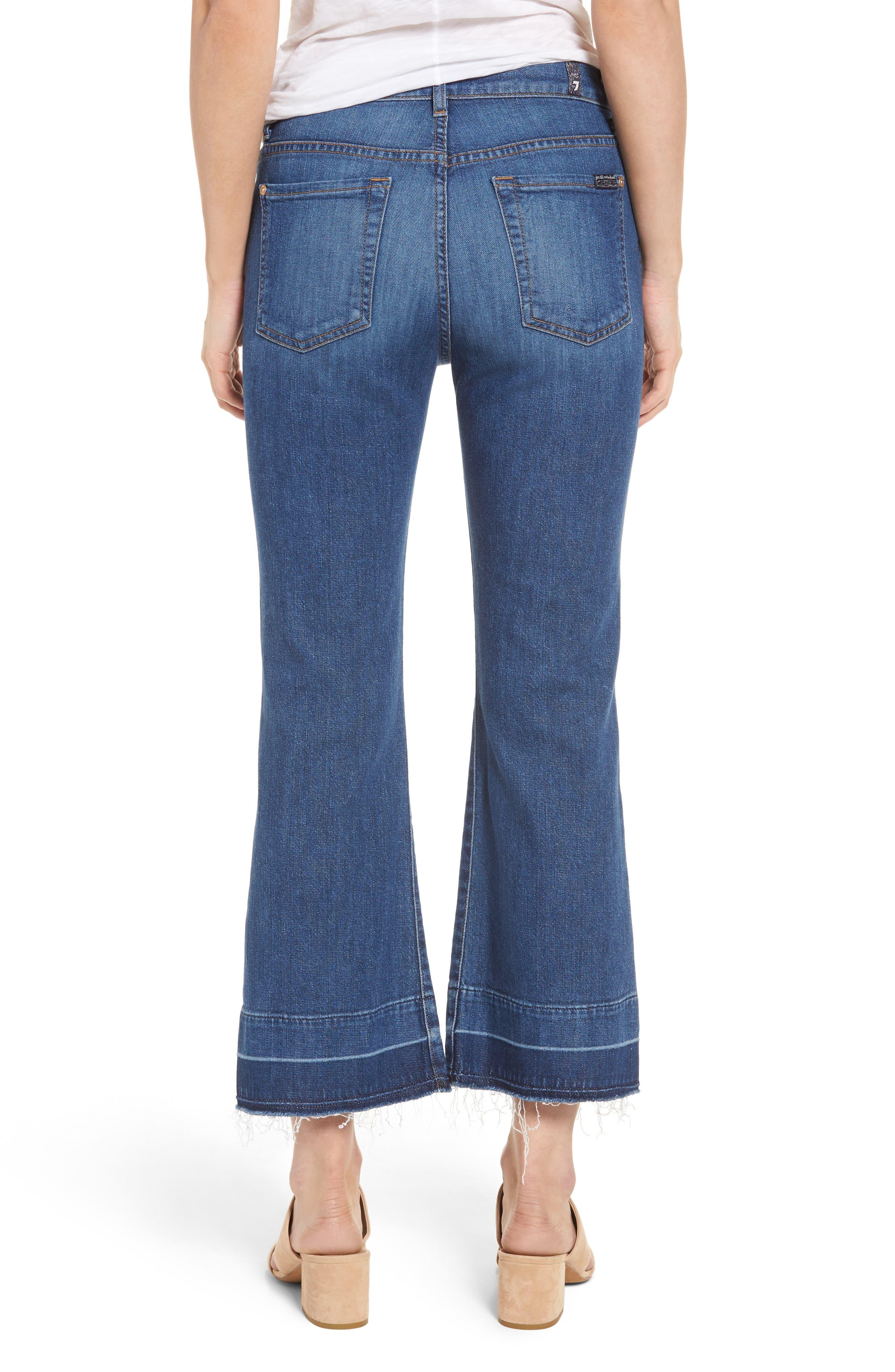 7 FOR ALL MANKIND<SUP>®</SUP>, Ali Split Hem Crop Flare Jeans, Alternate thumbnail 2, color, 401