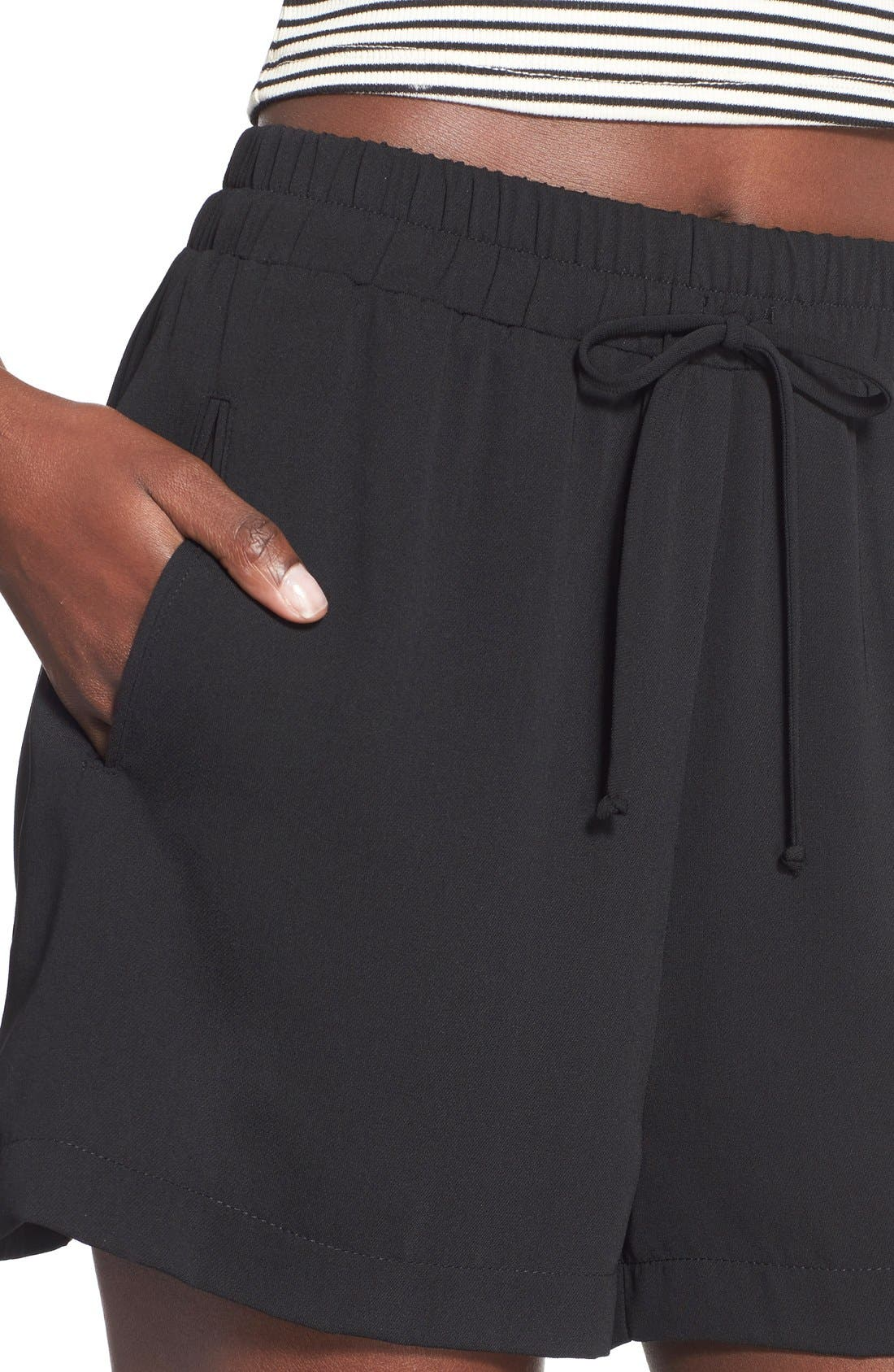---, Drawstring Shorts, Alternate thumbnail 4, color, 001