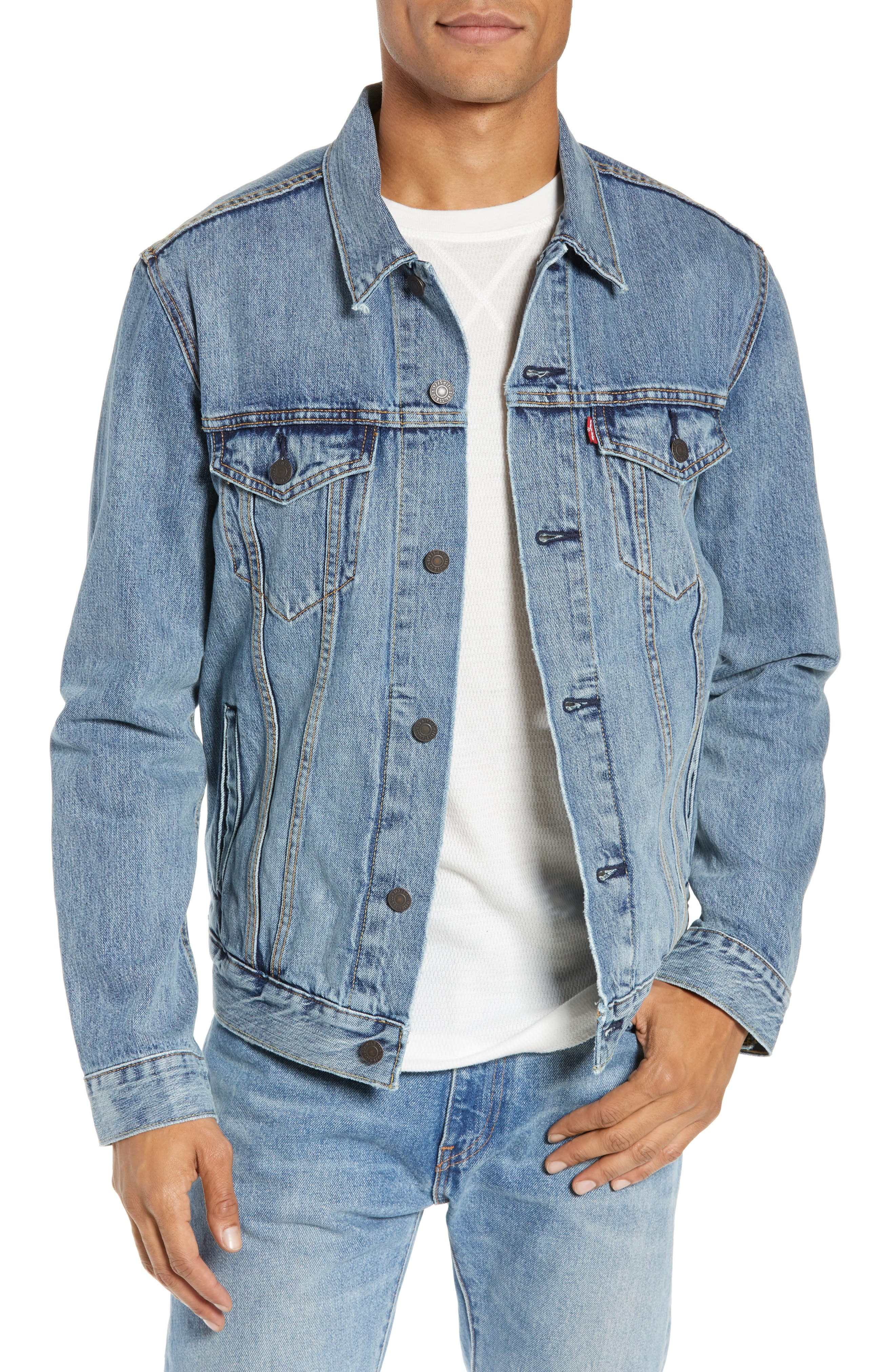 LEVI'S<SUP>®</SUP> Denim Trucker Jacket, Main, color, ICY
