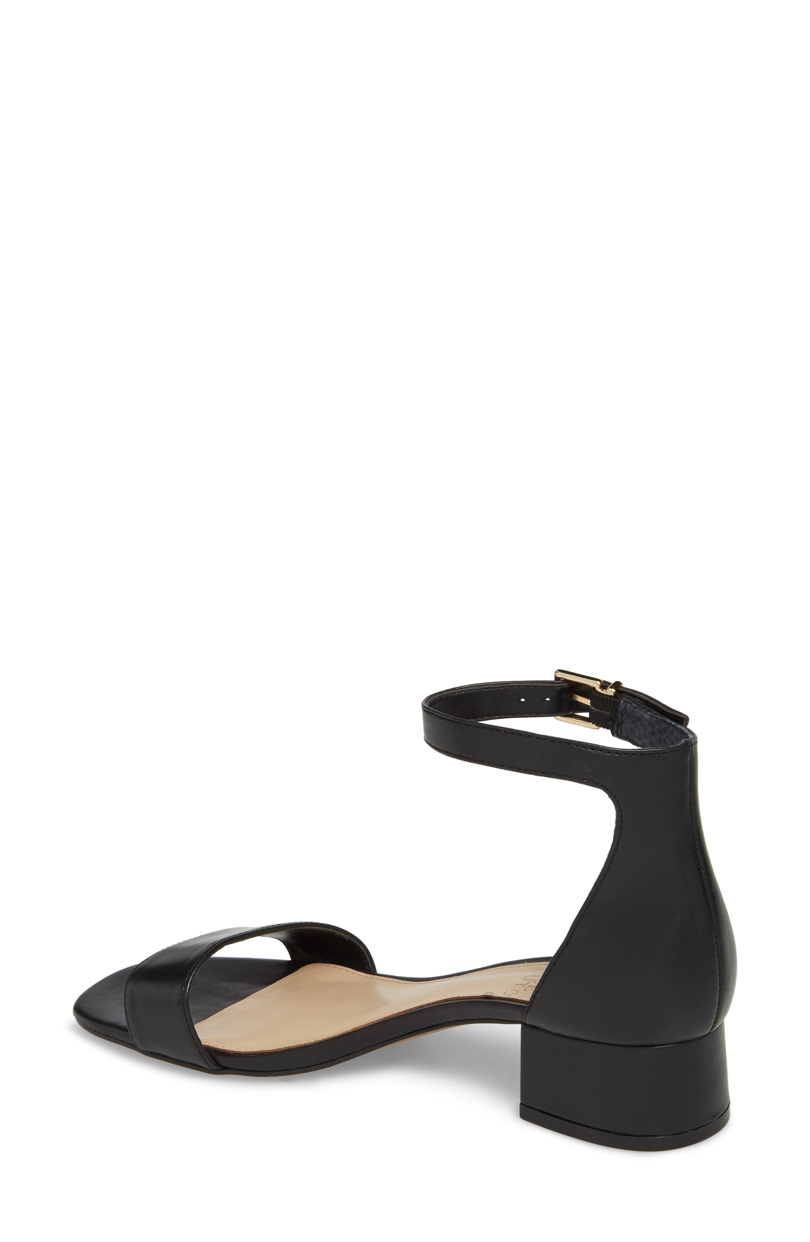 VINCE CAMUTO, Sasseta Sandal, Alternate thumbnail 2, color, BLACK LEATHER