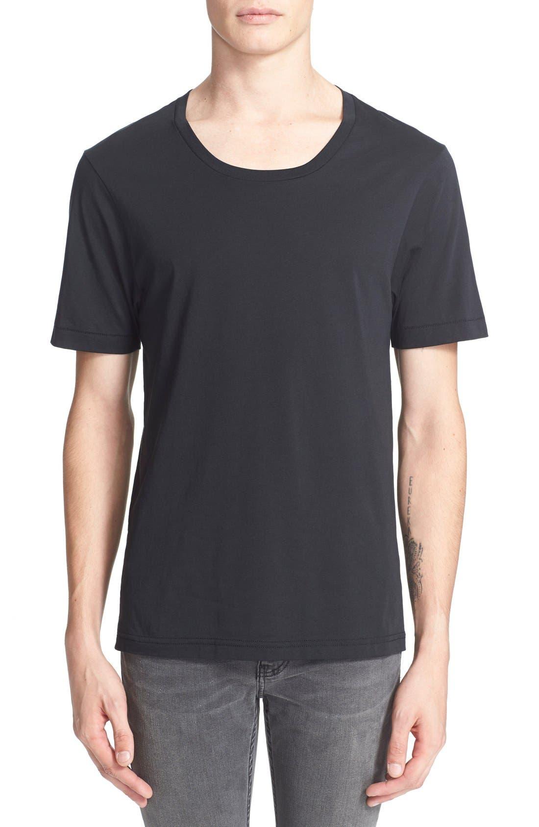 BLK DNM, 'T-Shirt 3' Pima Cotton T-Shirt, Main thumbnail 1, color, 001