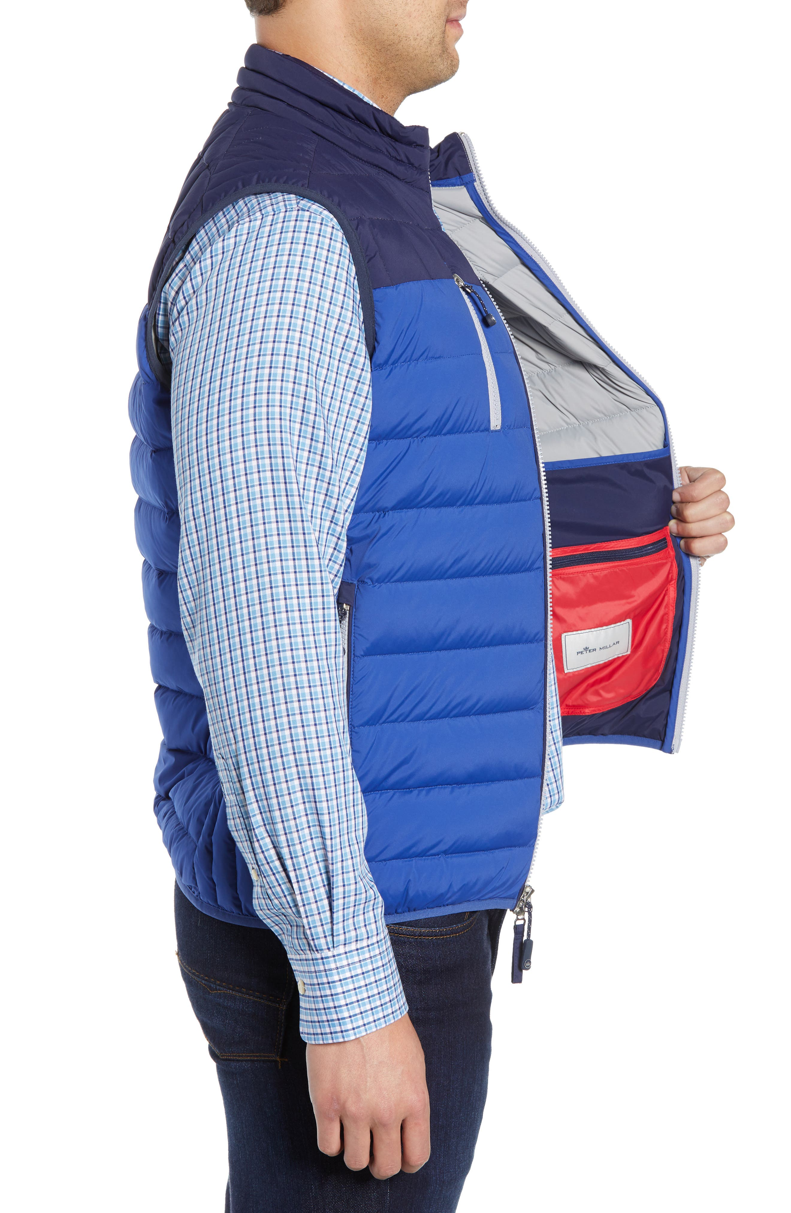 PETER MILLAR, Sail Classic Fit Puffer Vest, Alternate thumbnail 4, color, SAIL
