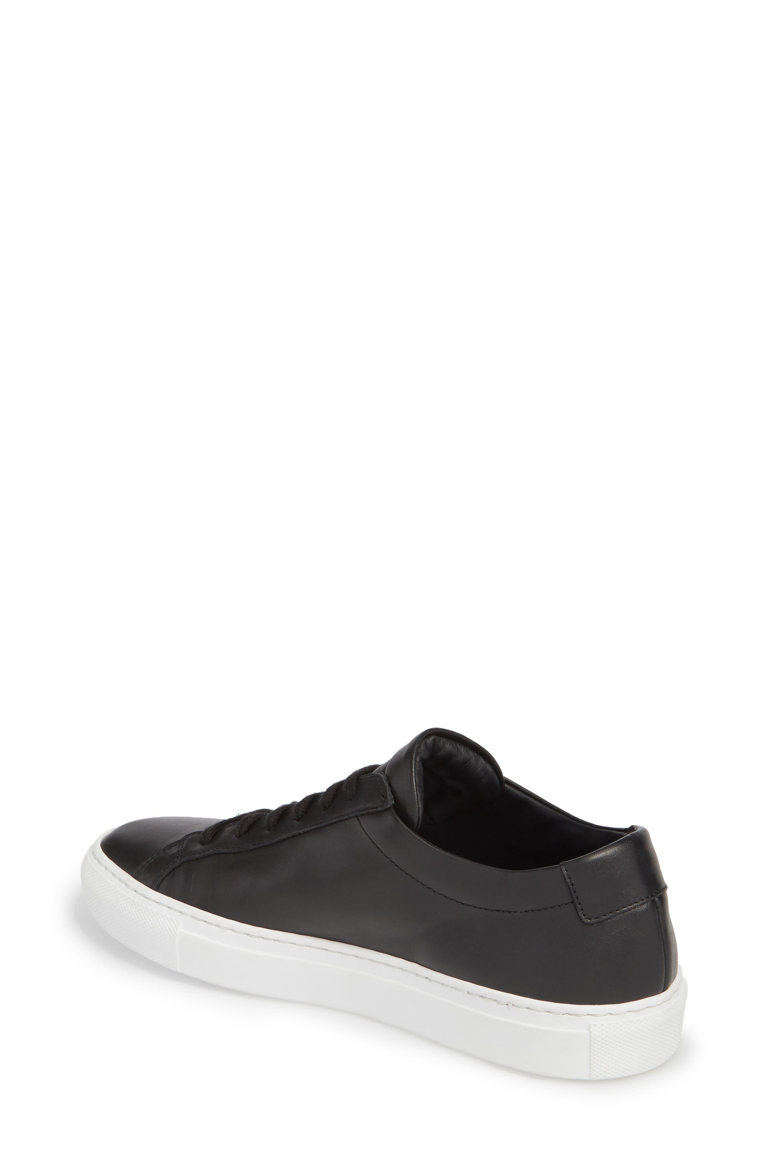 COMMON PROJECTS, Original Achilles Low Sneaker, Alternate thumbnail 2, color, BLACK