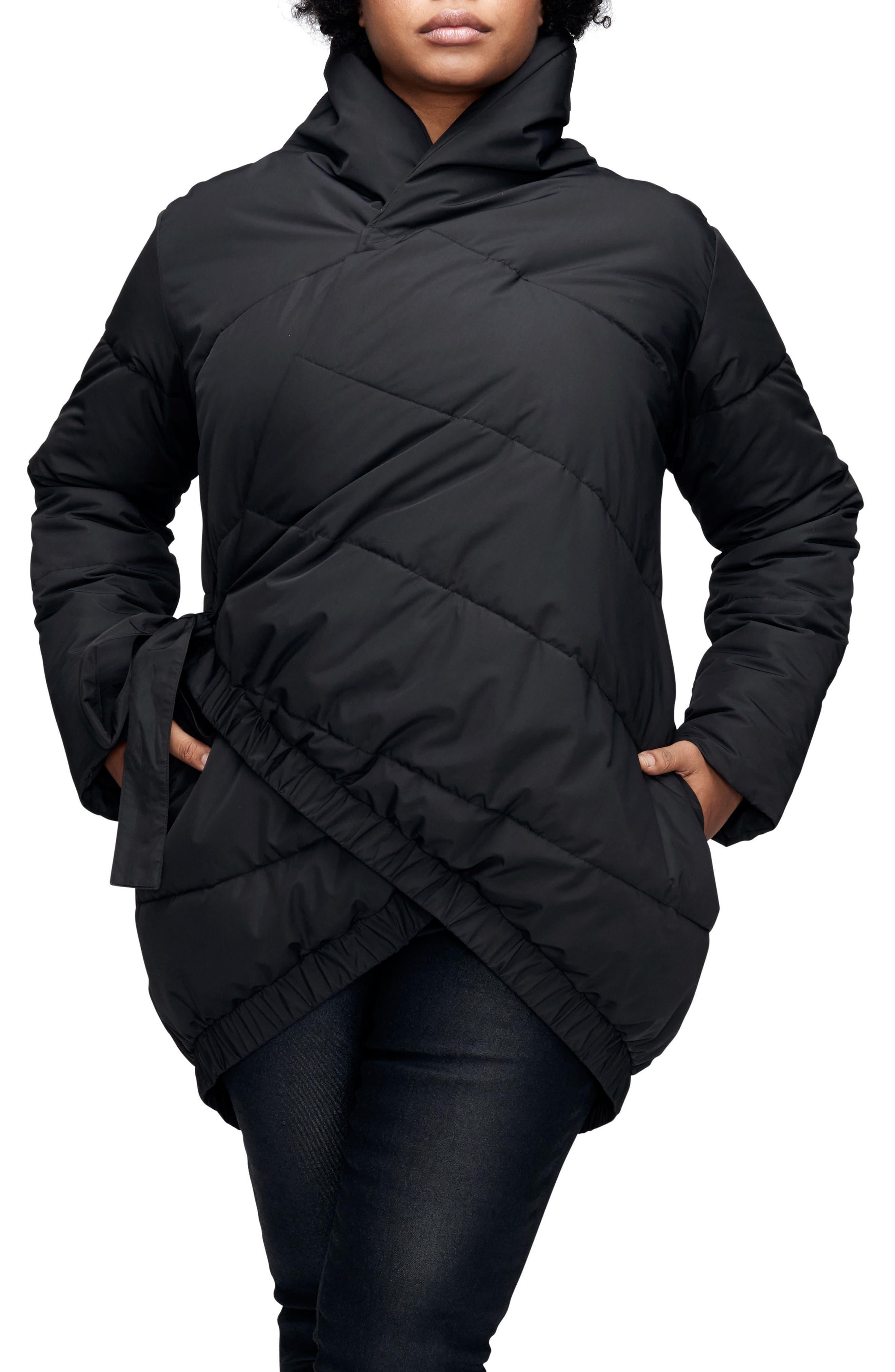 UNIVERSAL STANDARD Kanda Puffer Coat, Main, color, BLACK