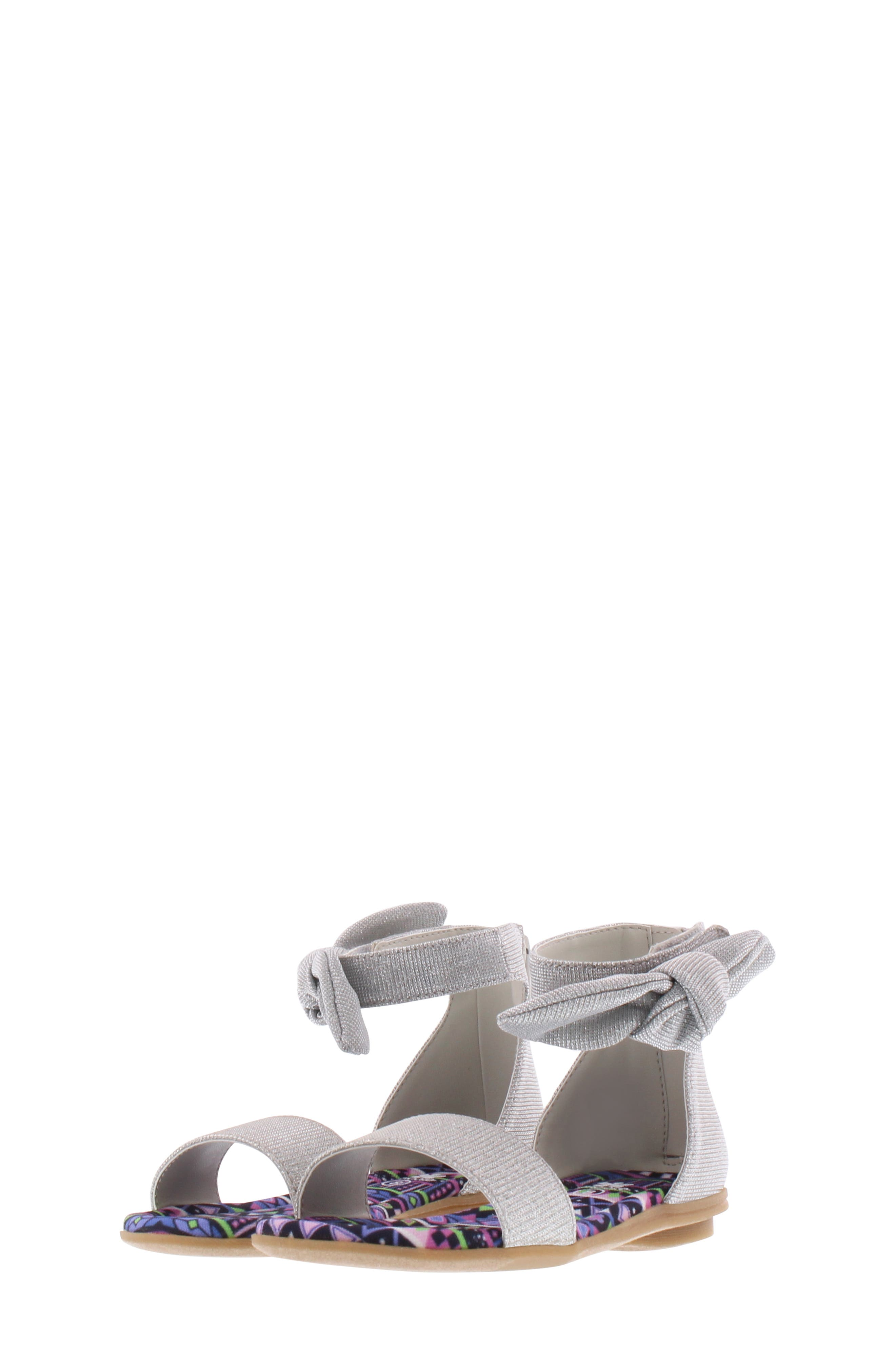 CHOOZE, Bright Daisy Sandal, Alternate thumbnail 9, color, SILVER
