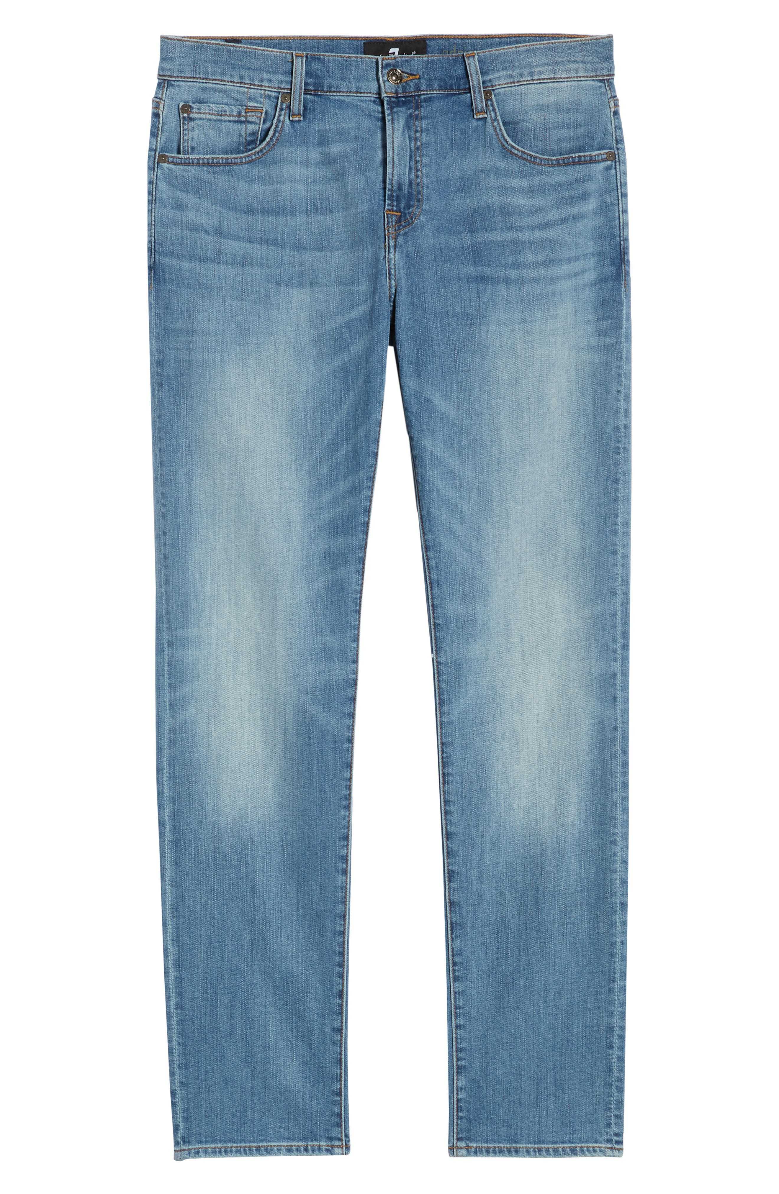 7 FOR ALL MANKIND<SUP>®</SUP>, Adrien Luxe Performance Slim Fit Jeans, Alternate thumbnail 7, color, ZEITGEIST